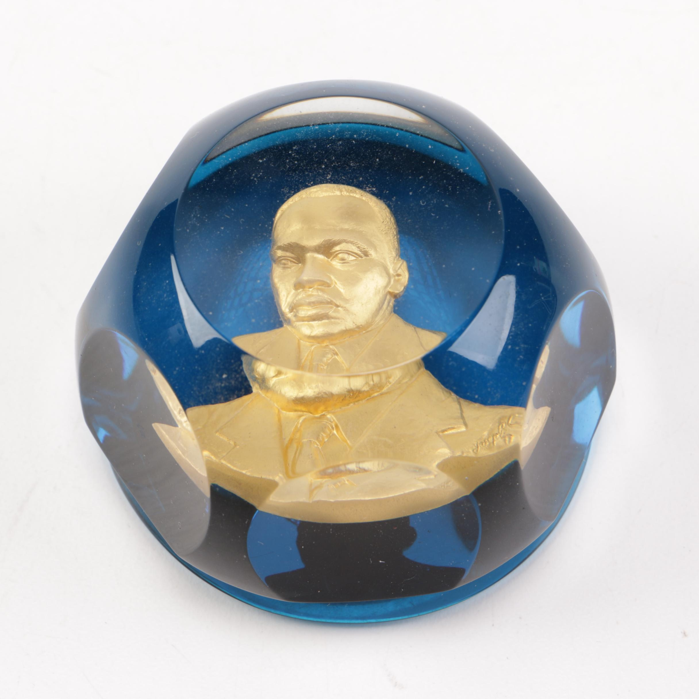 Baccarat Martin Luther King Jr. Crystal Paperweight
