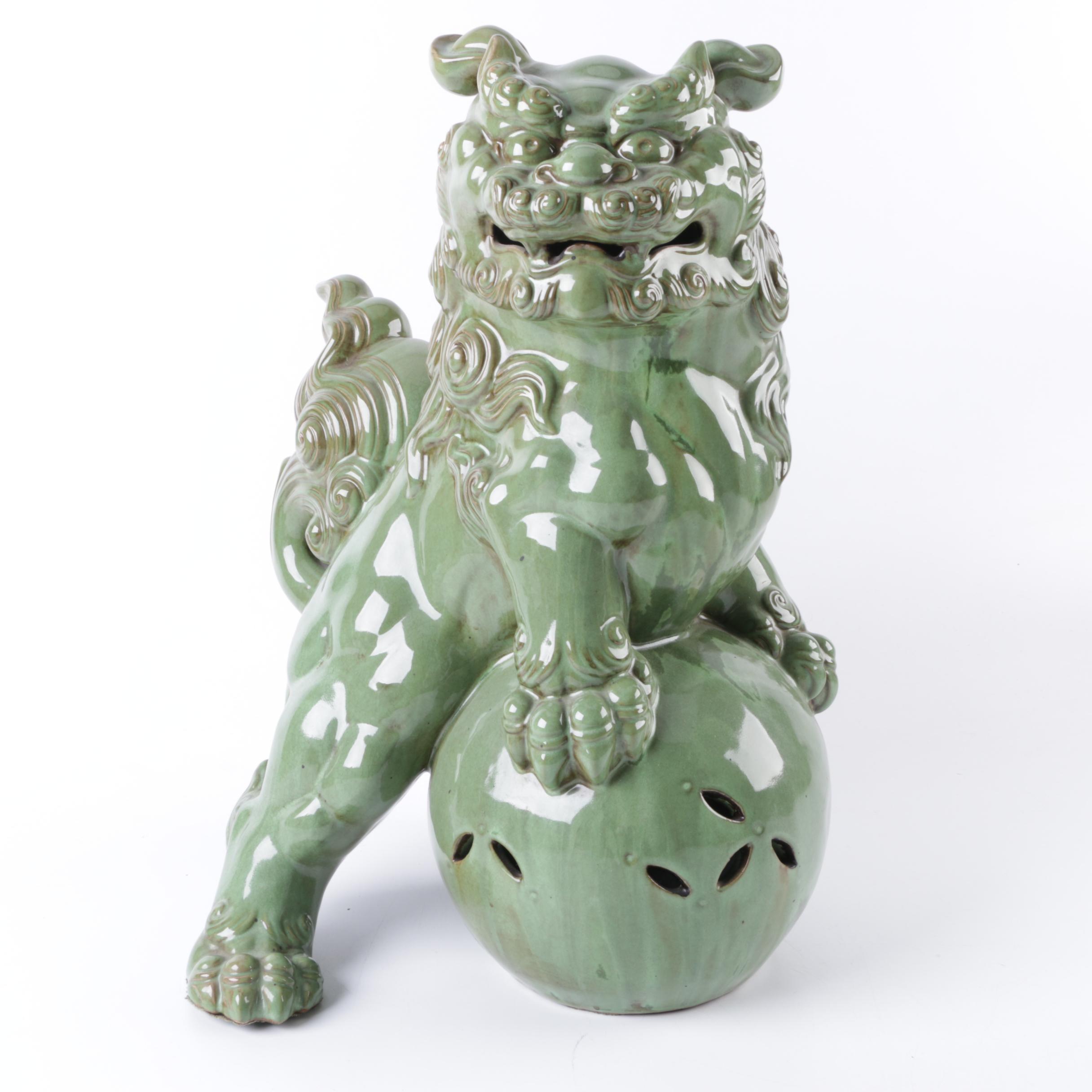 Ceramic Chinese Guardian Lion