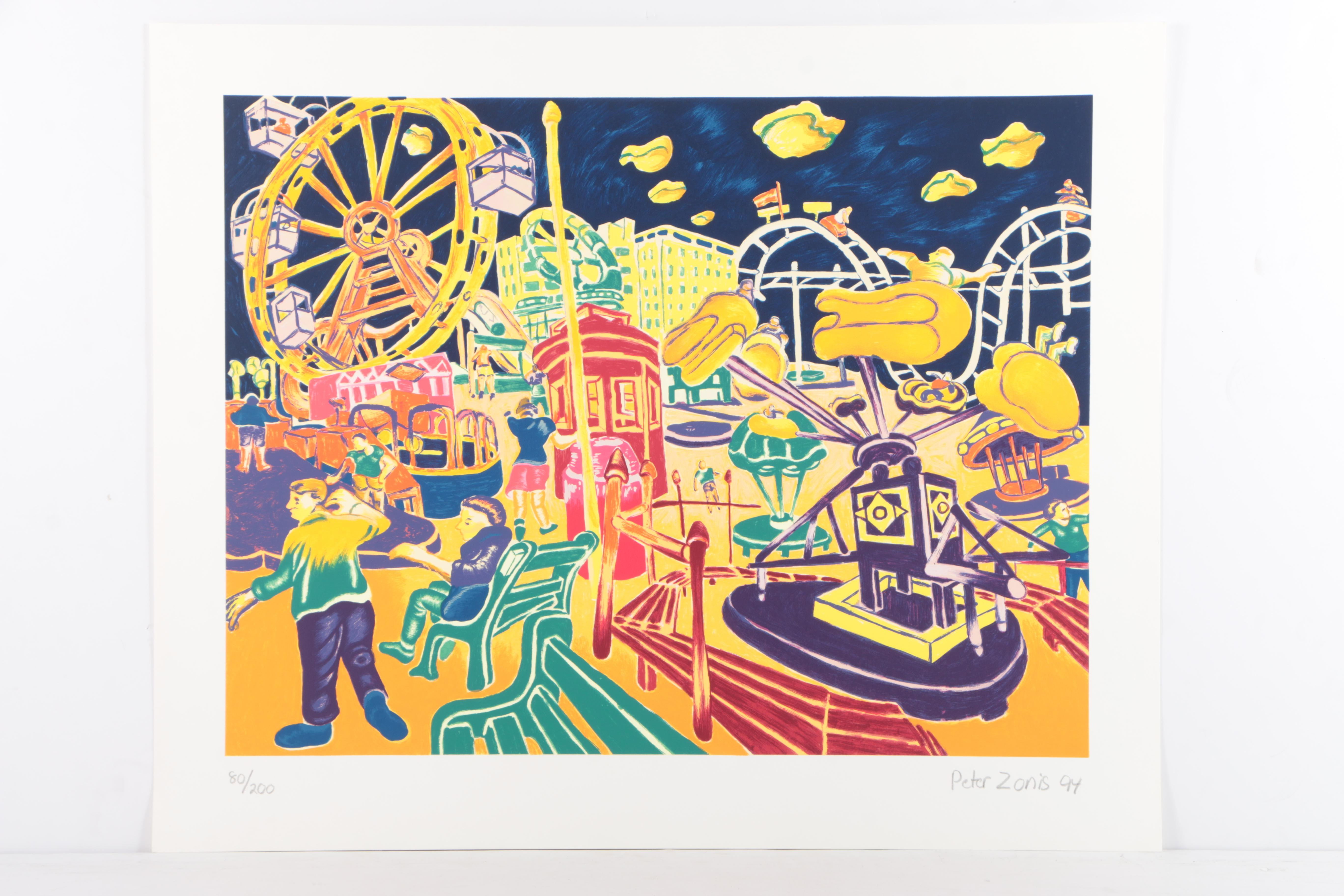 Peter Zonis Limited Edition Serigraph on Paper of Carnival