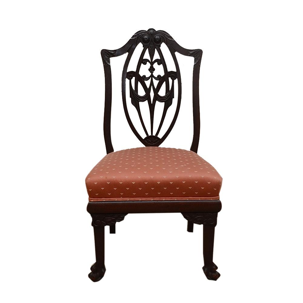 Vintage Hepplewhite Style Side Chair