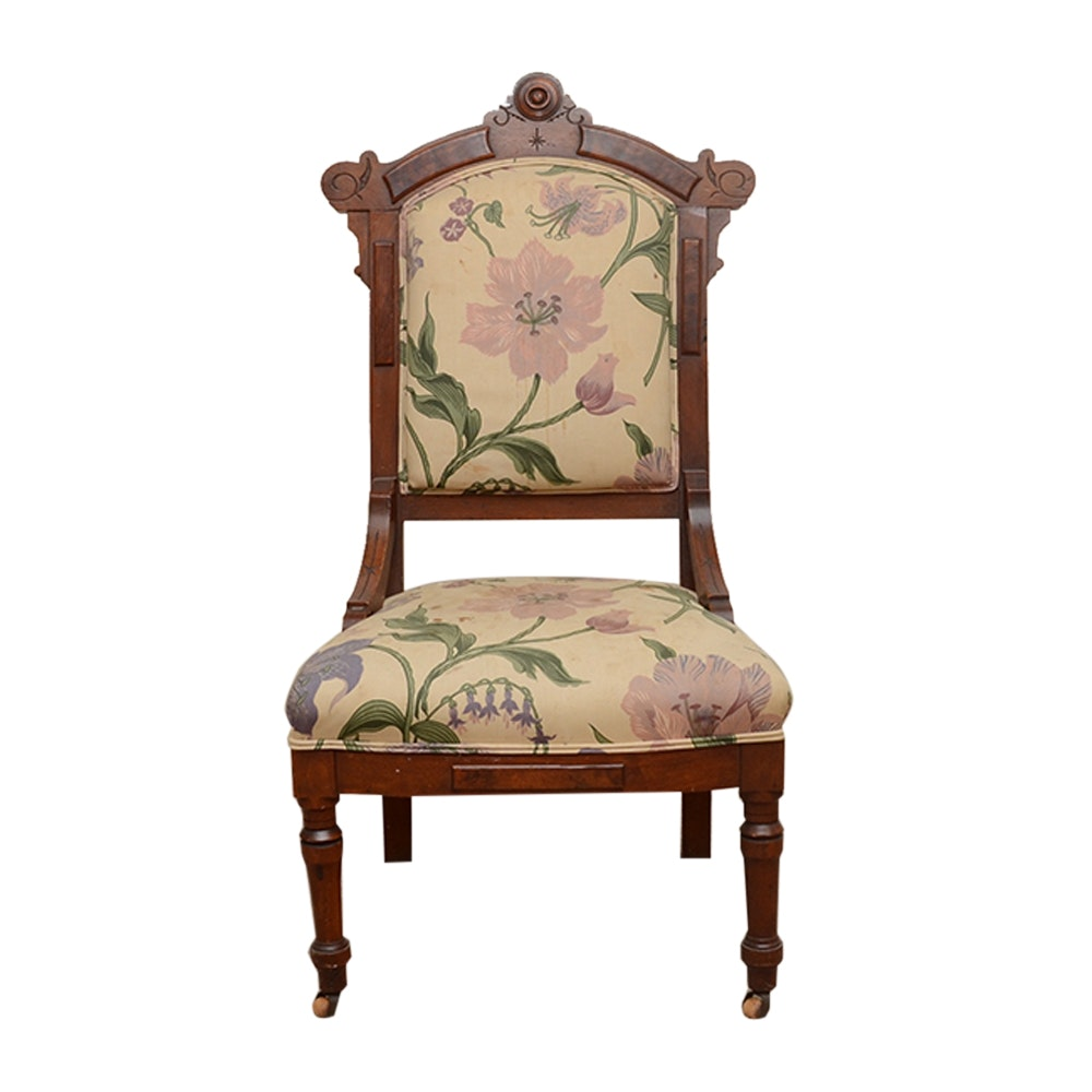 Upholstered Eastlake Style Side Chair
