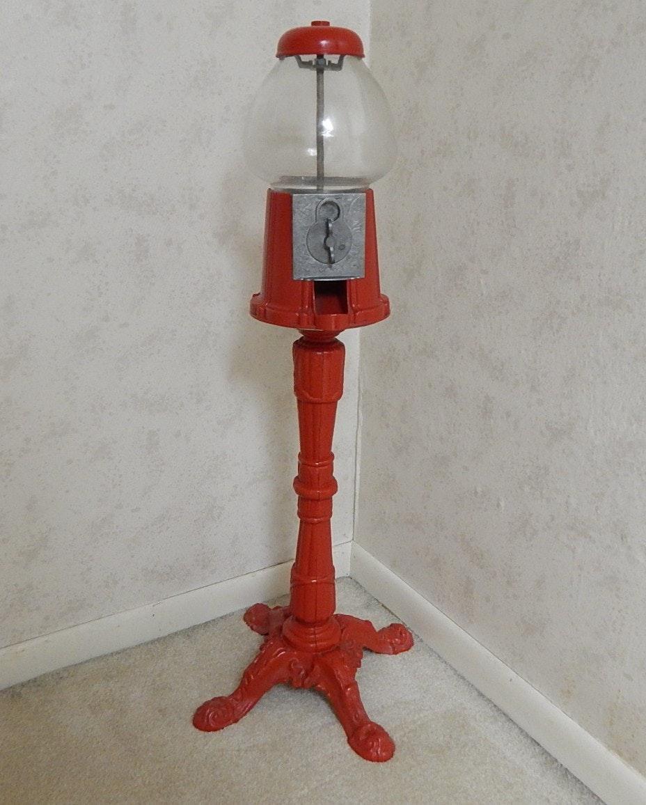 Red Metal Gumball Machine