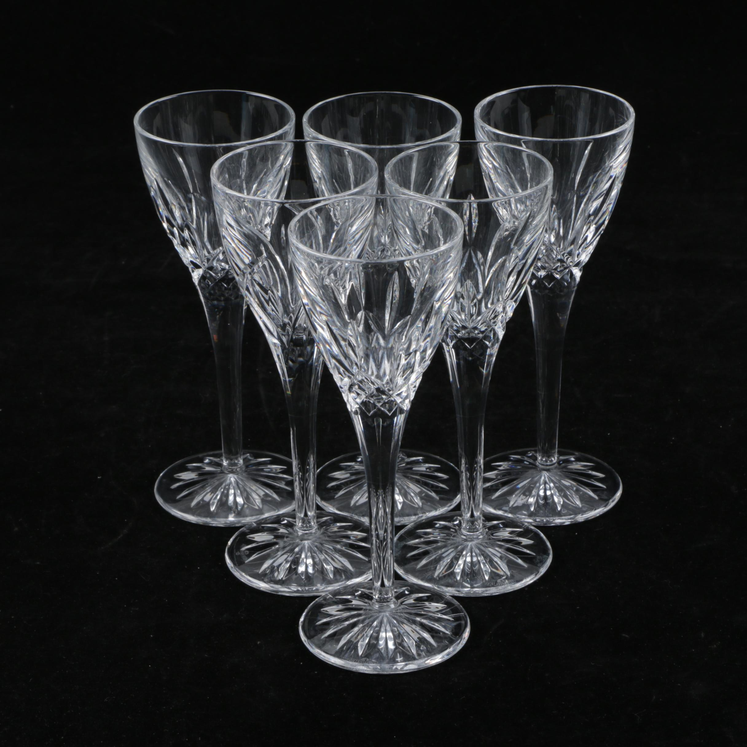 "Waterford ""Lismore"" Crystal Cordial Glasses"