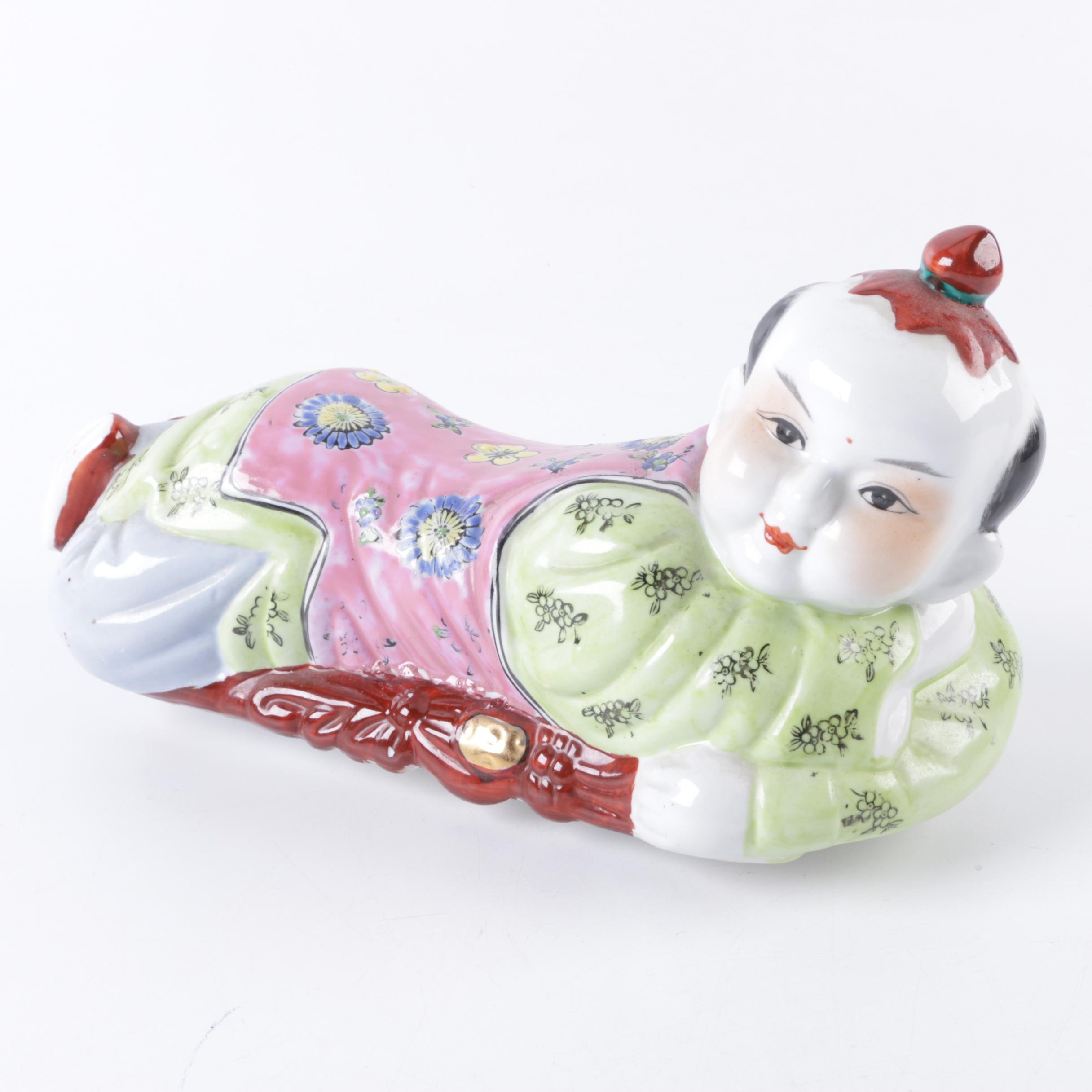 Vintage East Asian Ceramic Stash Box