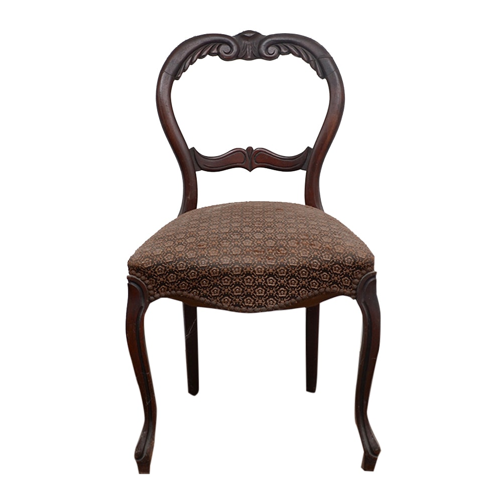 Victorian Style Balloon Back Side Chair