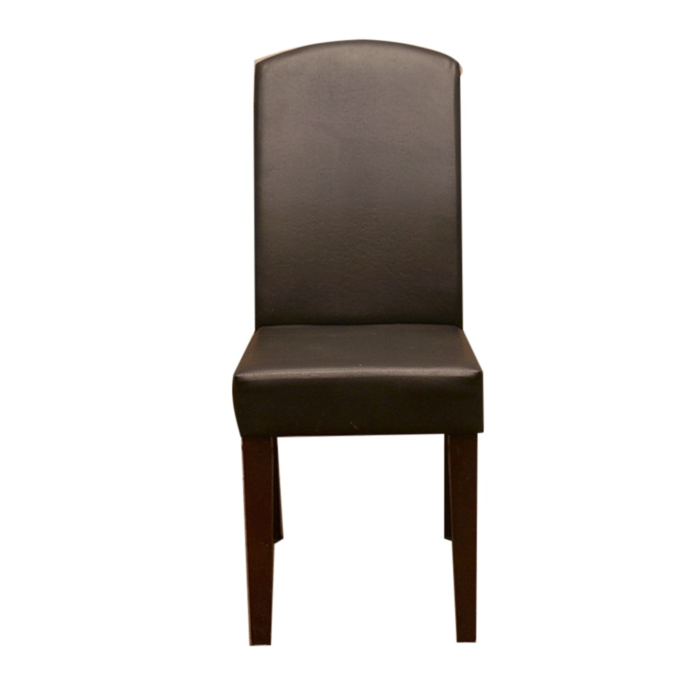 Brown Bonded Leather Side Chair