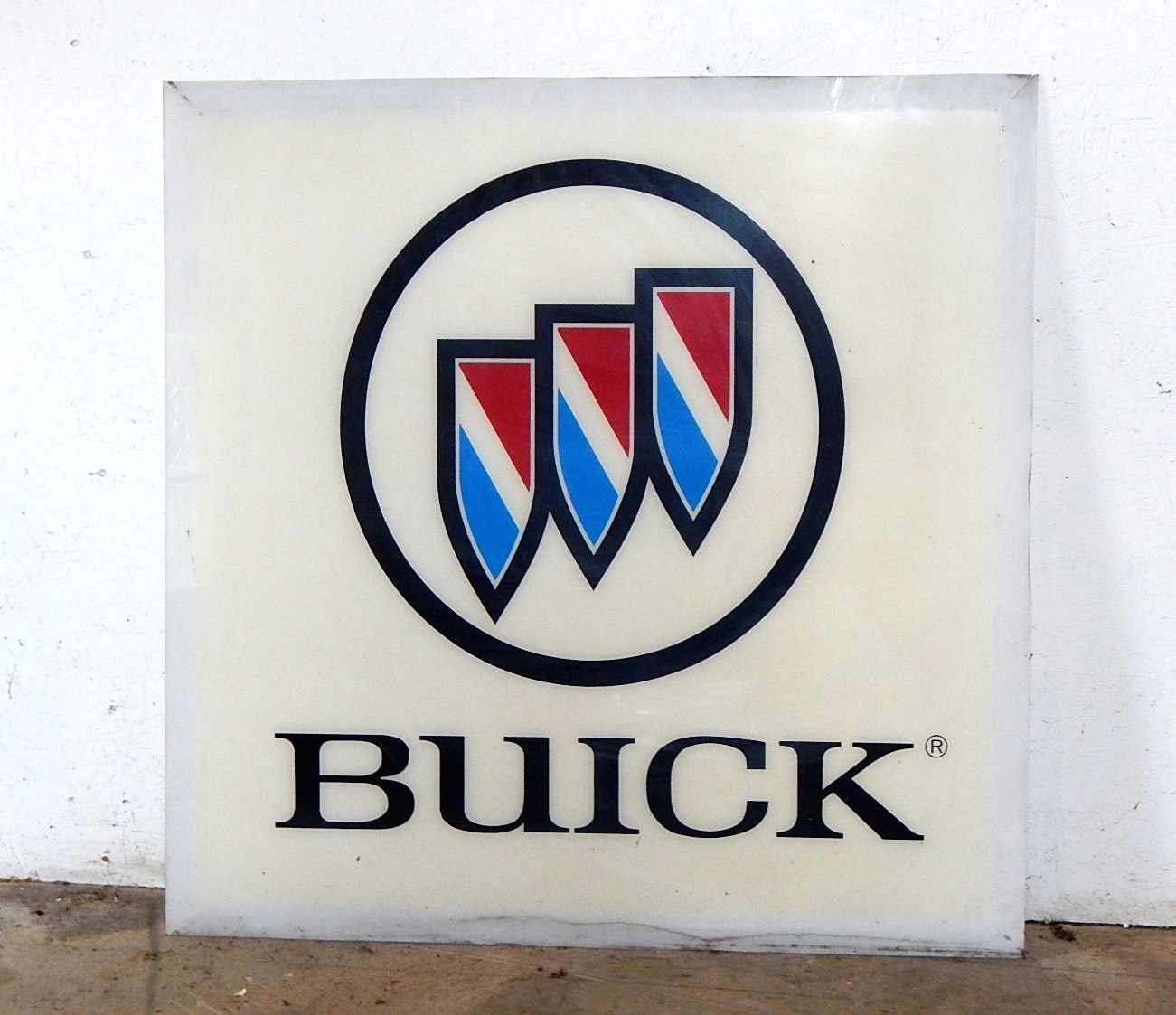Vintage Plexiglas Car Manufacturer Sign - Buick