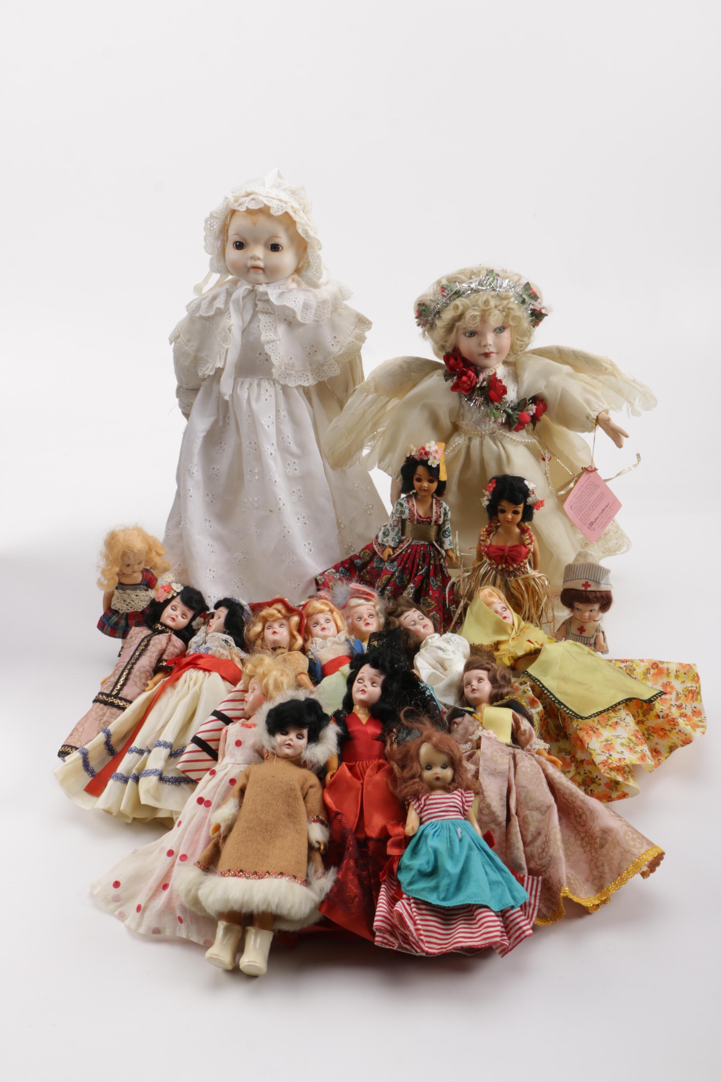Porcelain and Vinyl Dolls
