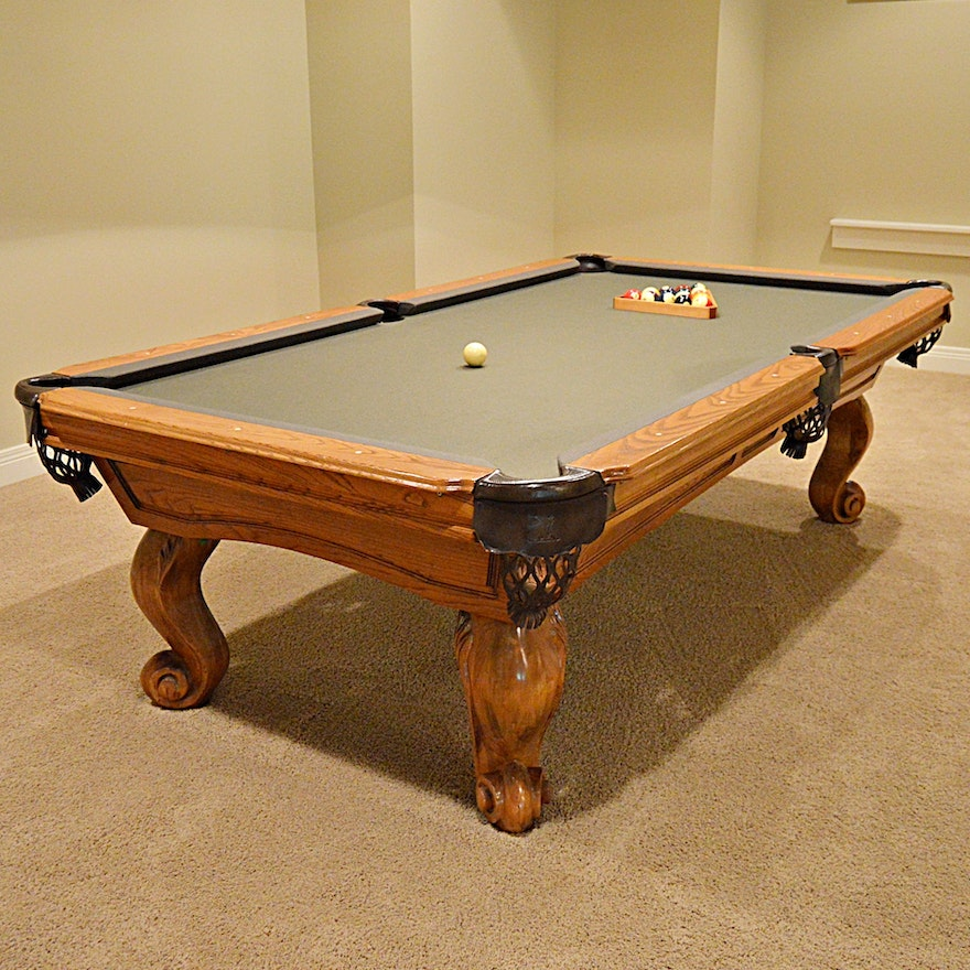 Connelly Sedona Pool Table With Baseball Motif Pockets EBTH - Connelly billiard table