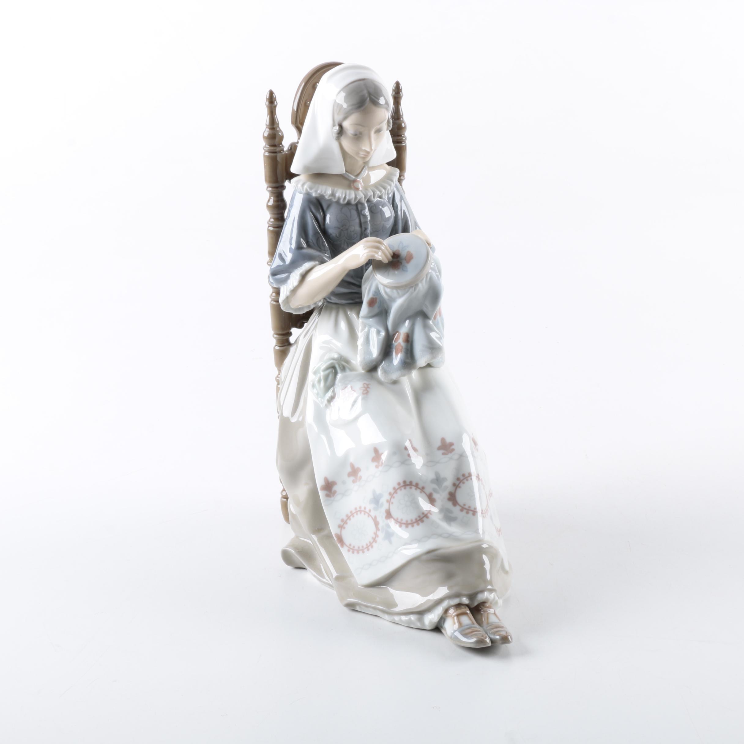 "A Lladró ""Insular Embroideress"" Figurine"