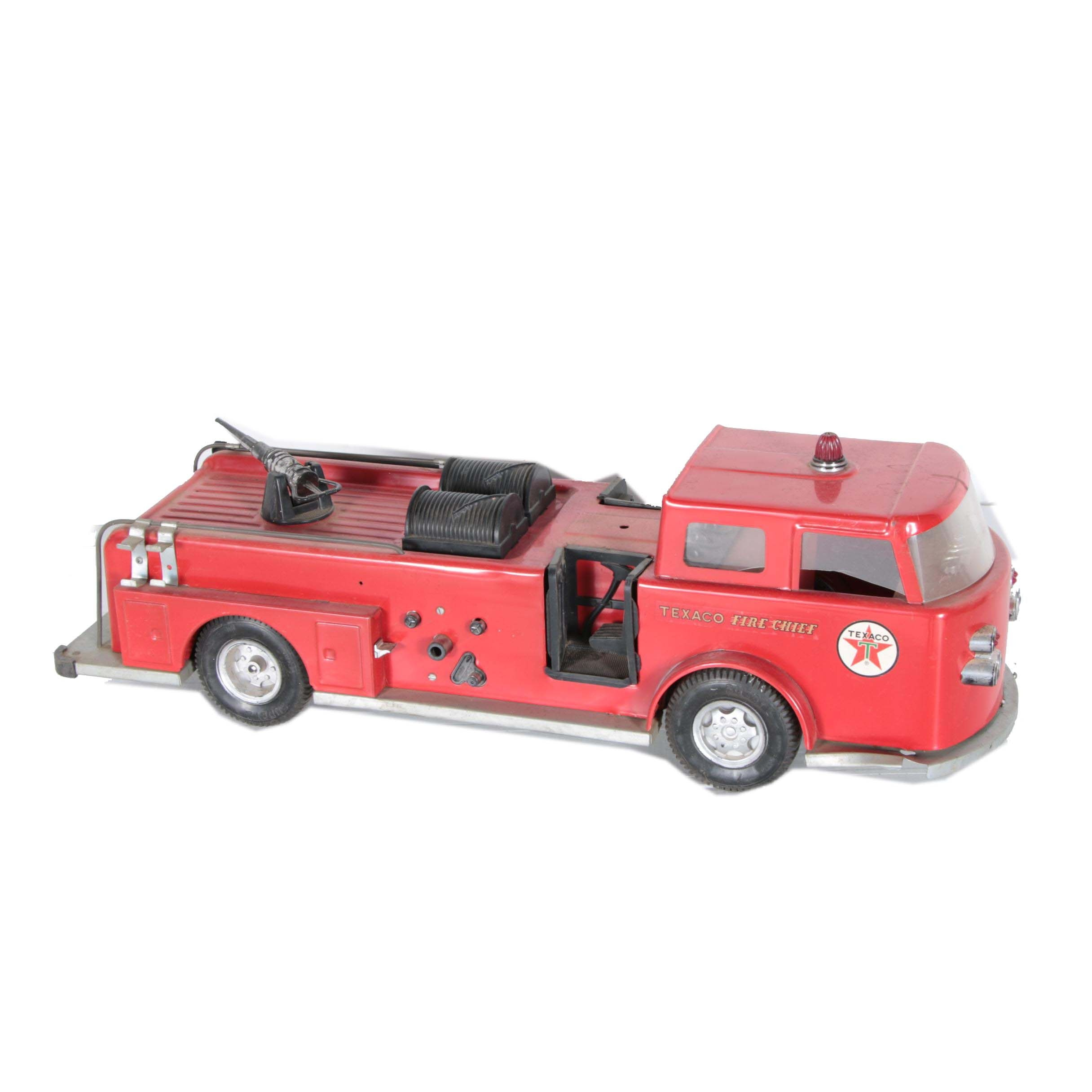 1960s Pressed Steel Buddy L. Texaco Fire Chief Truck