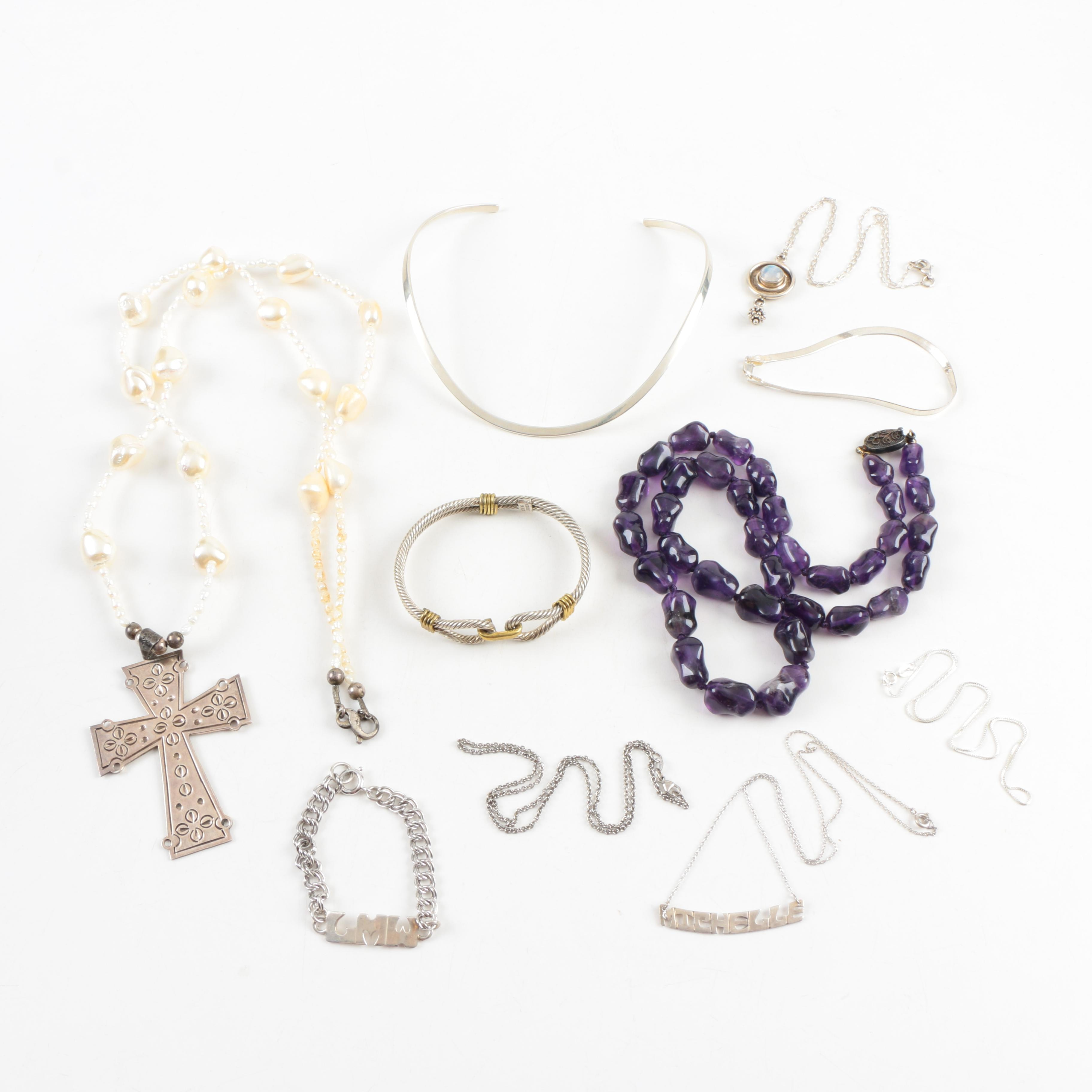 Sterling Silver Jewelry With Gemstones, Pearls, Leonore Doskow, and More