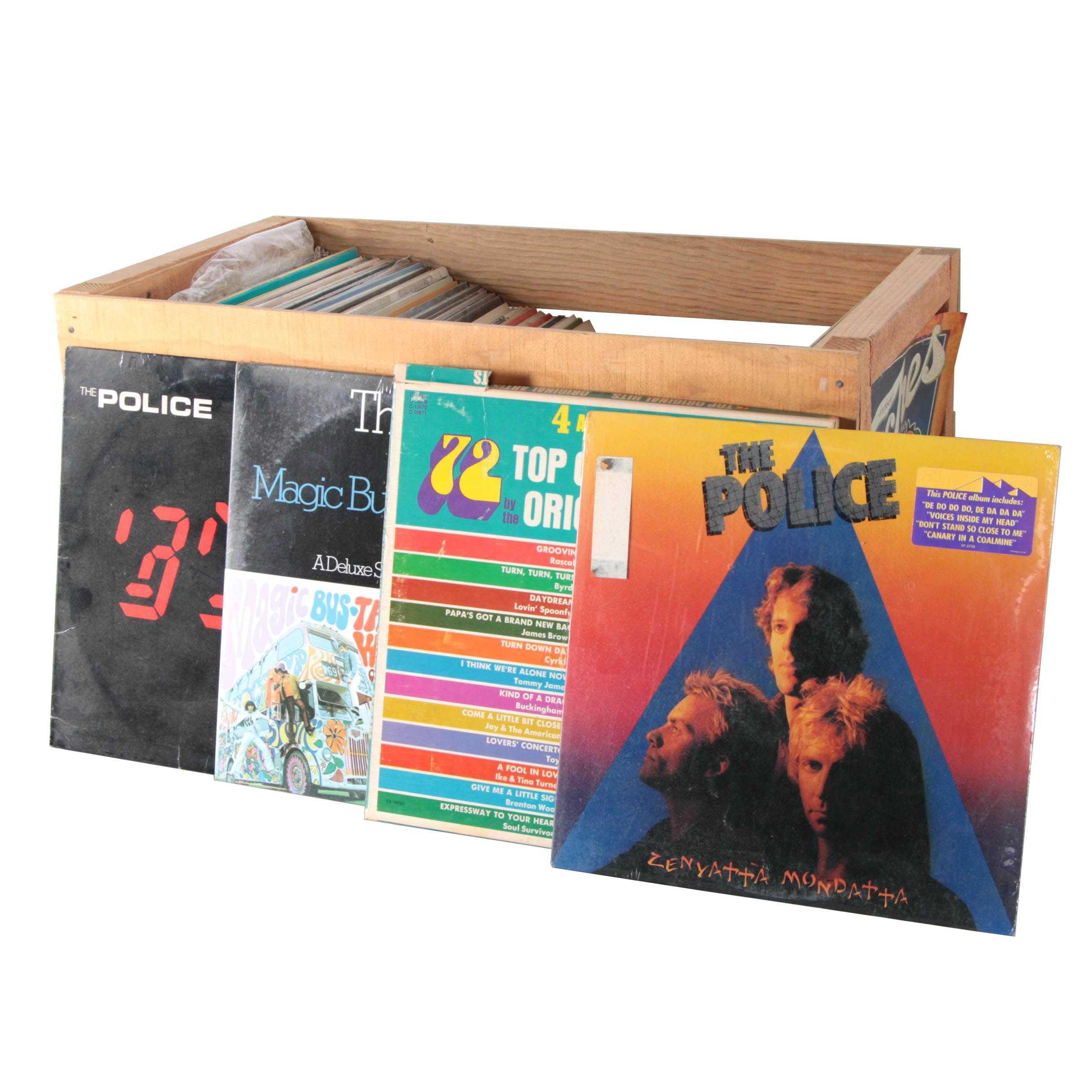 Elvis, Cream, Doobie Brothers, Police, Other Vintage LPs and Crate