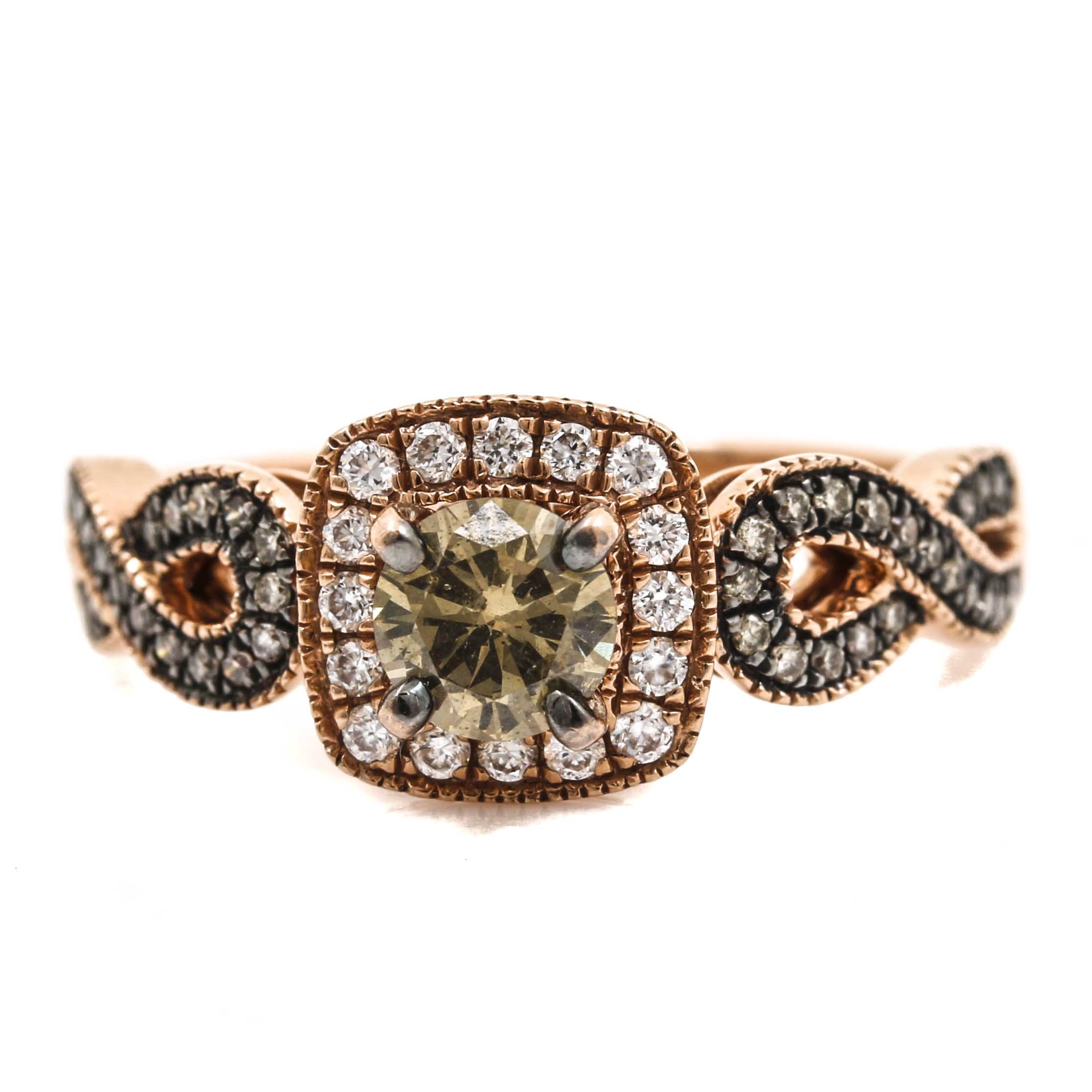 LeVian 14K Rose Gold Diamond Ring