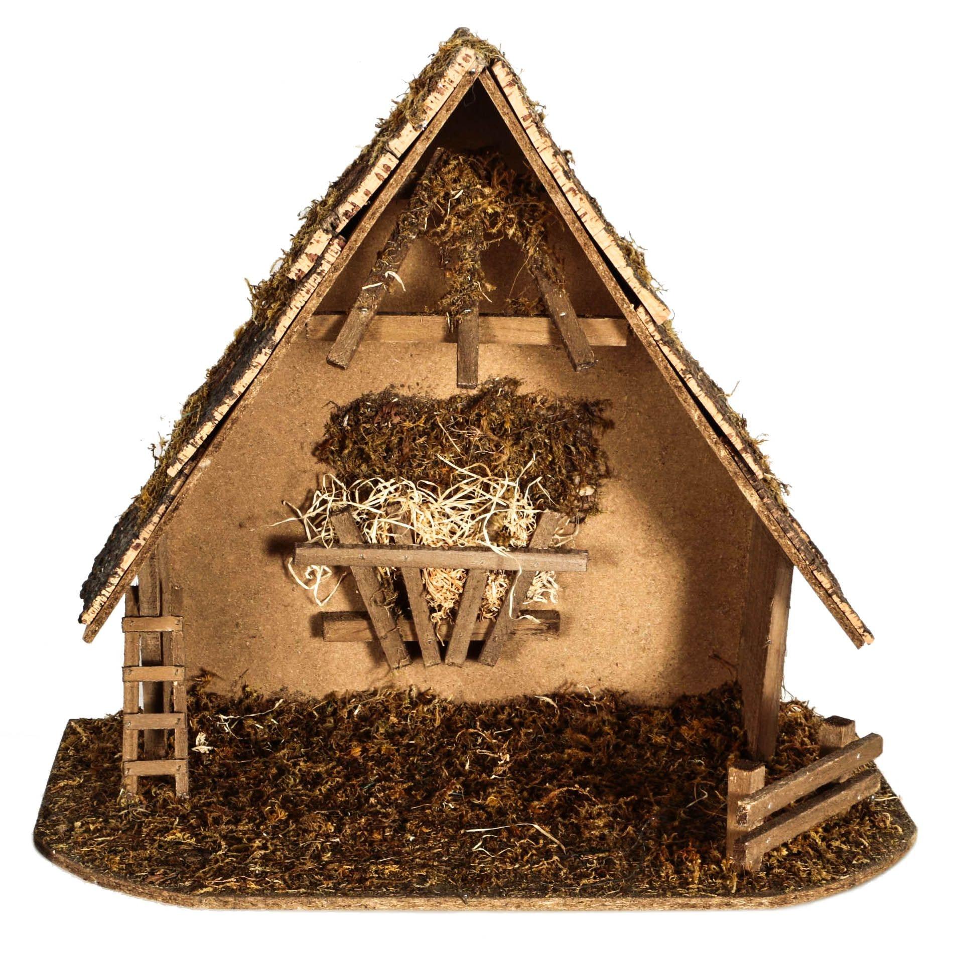 Wooden Tabletop Nativity Manger