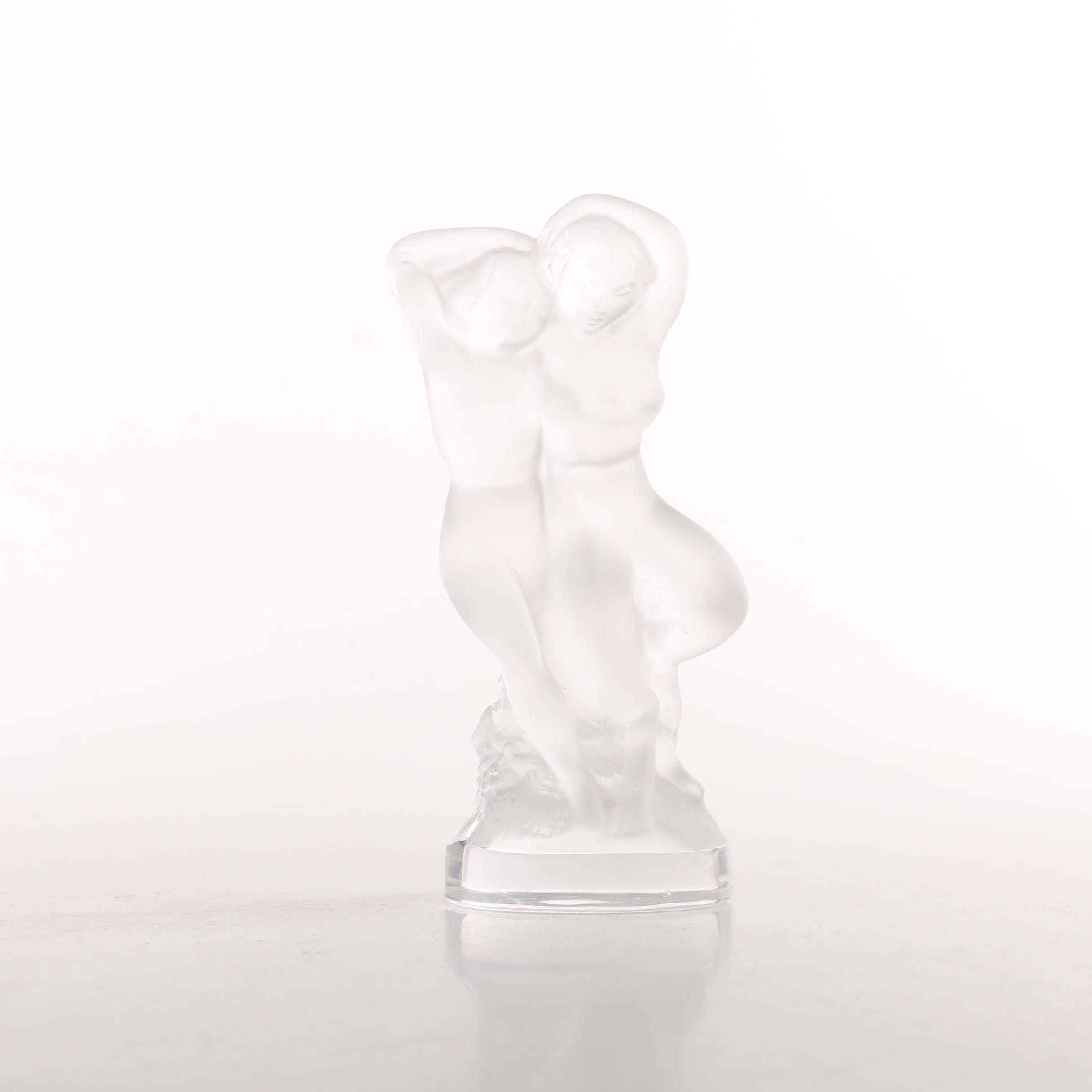 Lalique Crystal Figure of Two Women