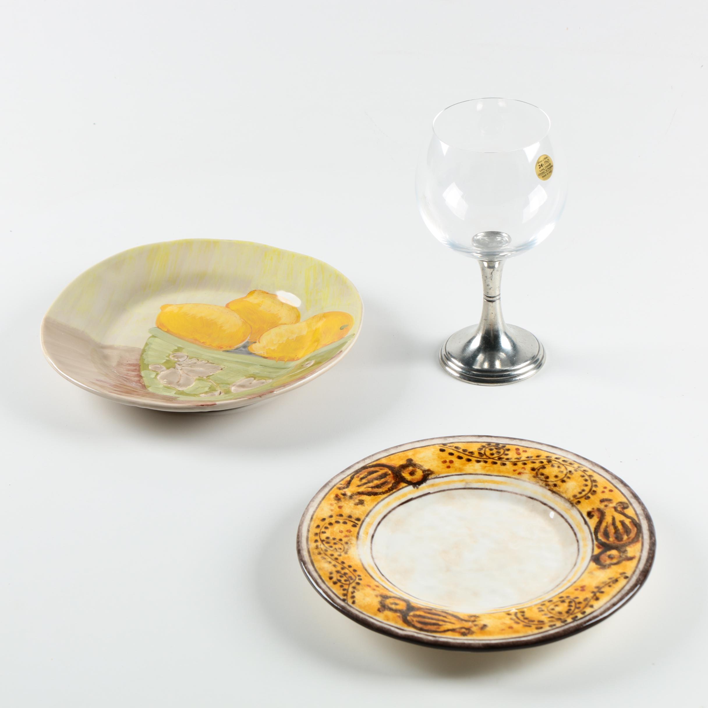 Italian Arte Italica Serveware with Vietri Plate