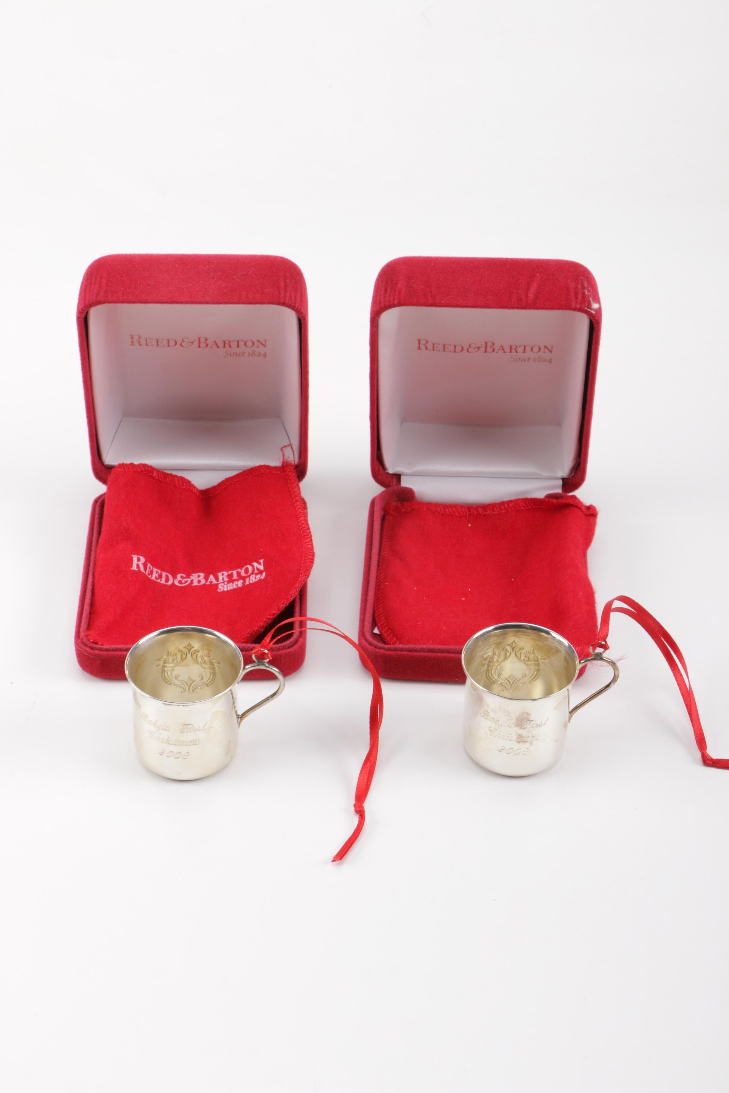 Reed & Barton Sterling Silver Annual Baby Cup Christmas Ornaments