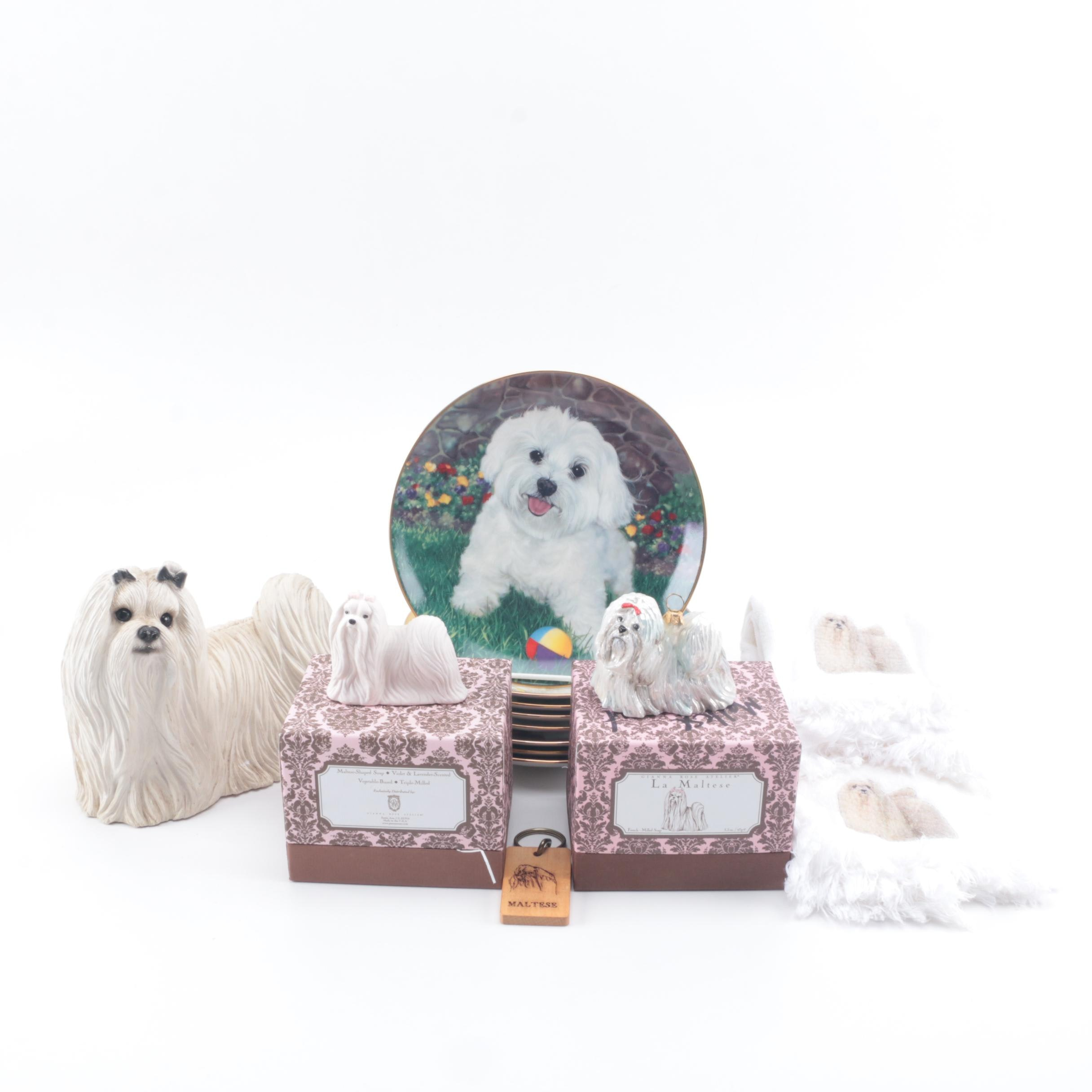 "Assortment of Danbury Mint ""Maltese"" Decorative Plates and Decor"