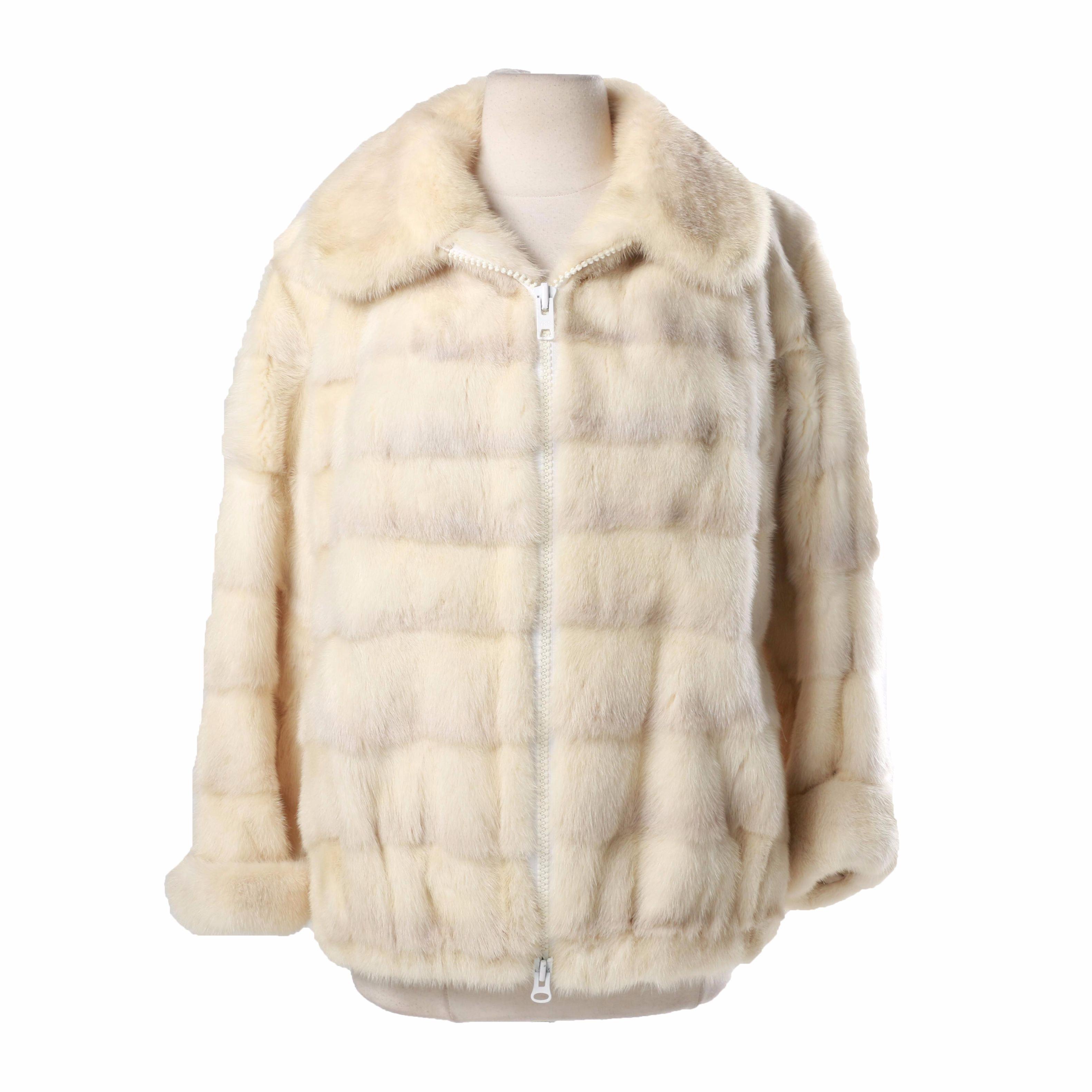 Vintage Mink Fur Jacket by Edward Glasser