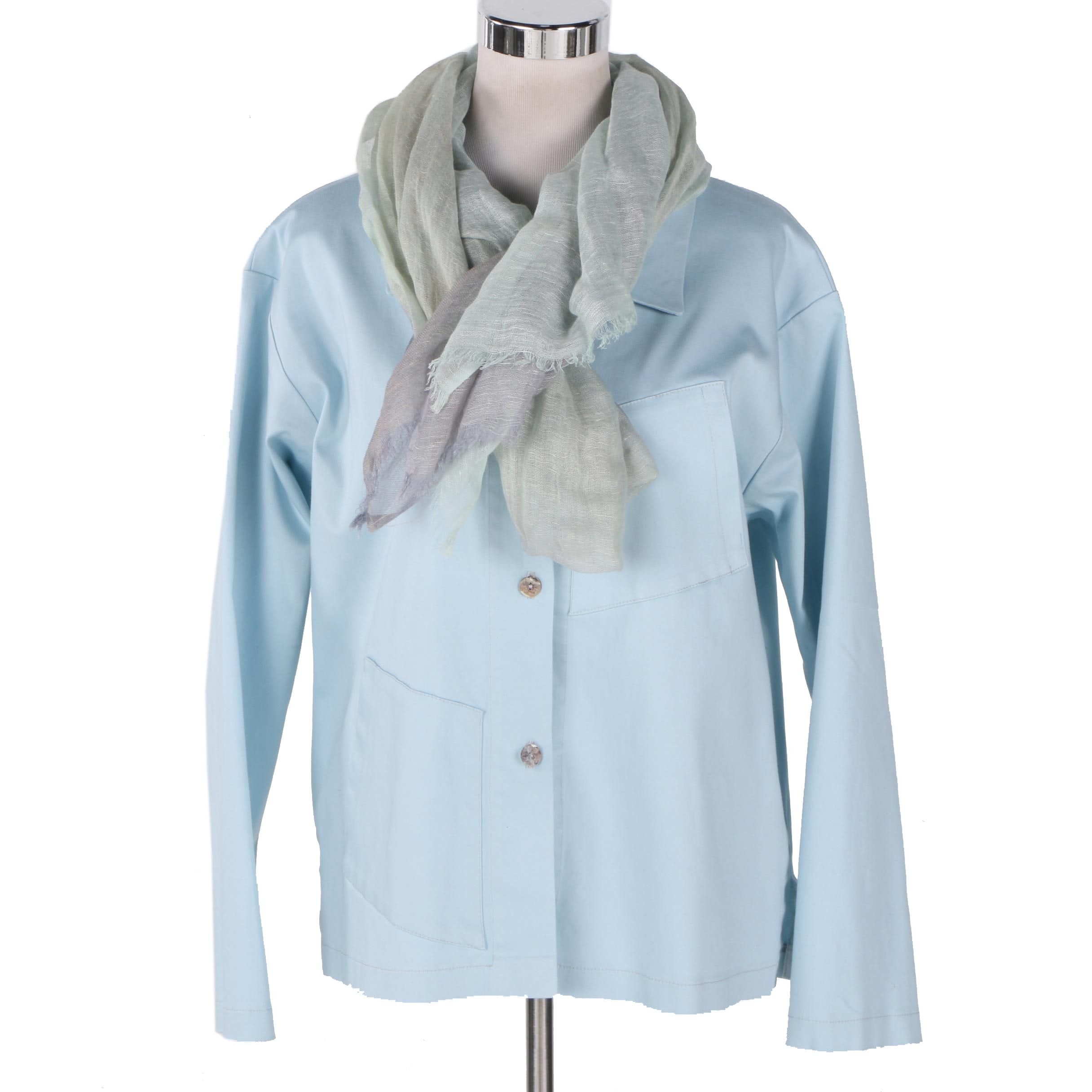 Women's Jacket by Vitamin with Scarf