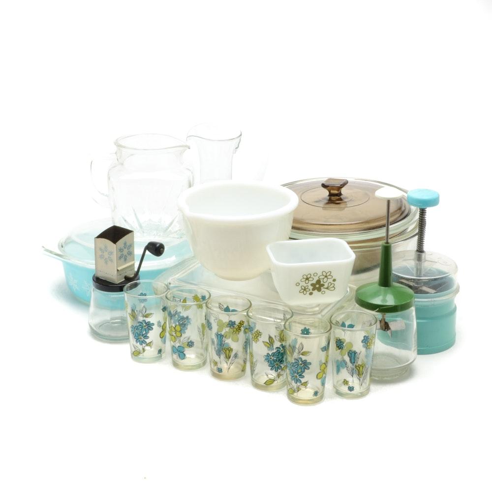 Vintage Kitchen Items, Including Pyrex