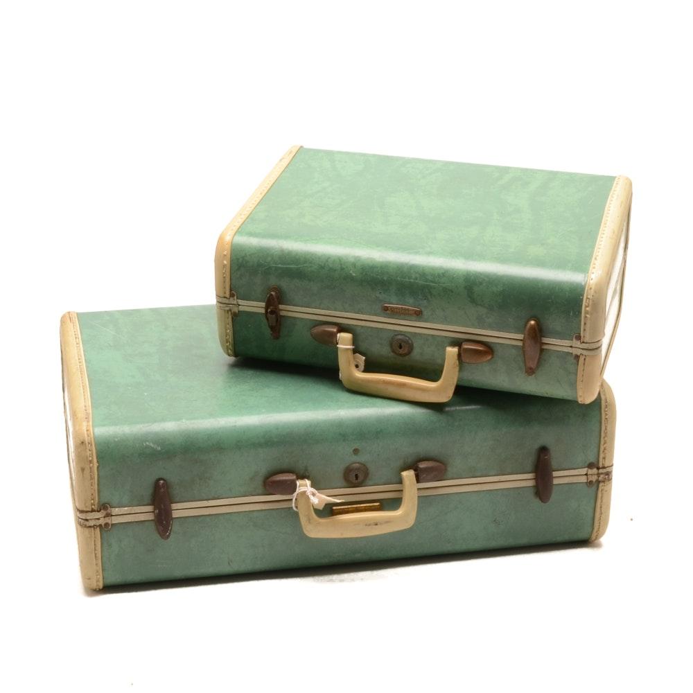 Pair of Vintage Samsonite Hardshell Suitcases
