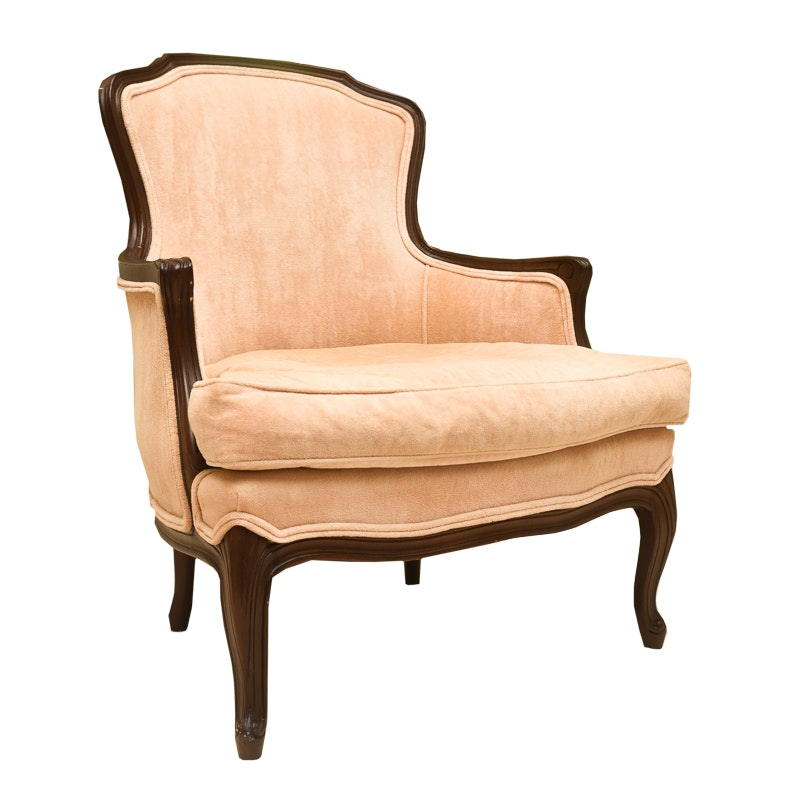 Louis XV Style Upholstered Arm Chair by Fogle Furniture Company