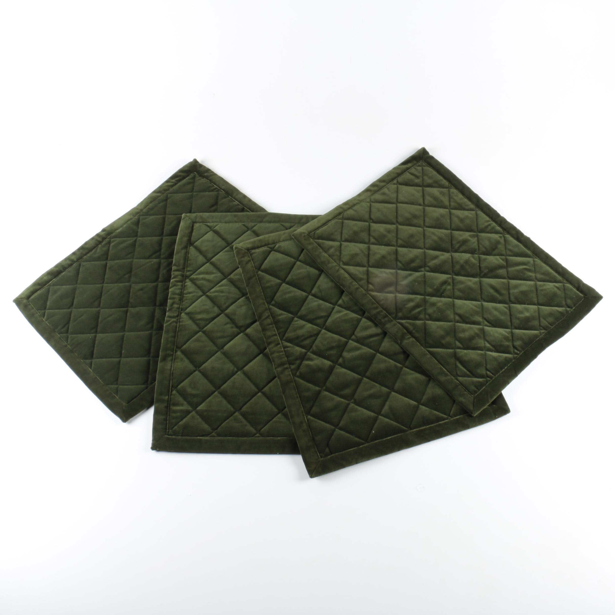 Set of Ann Gish Quilted Velvet Placemats