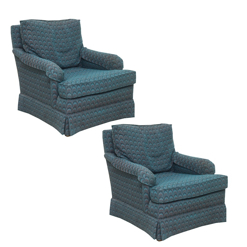 Pair of Club Chairs by Heritage Furniture