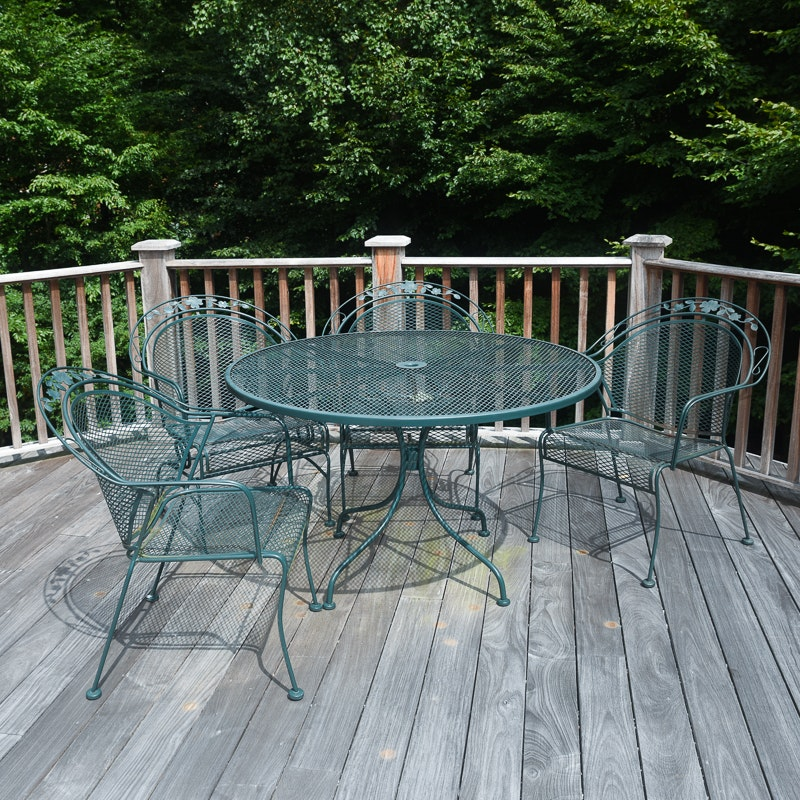Green Patio Table and Chairs