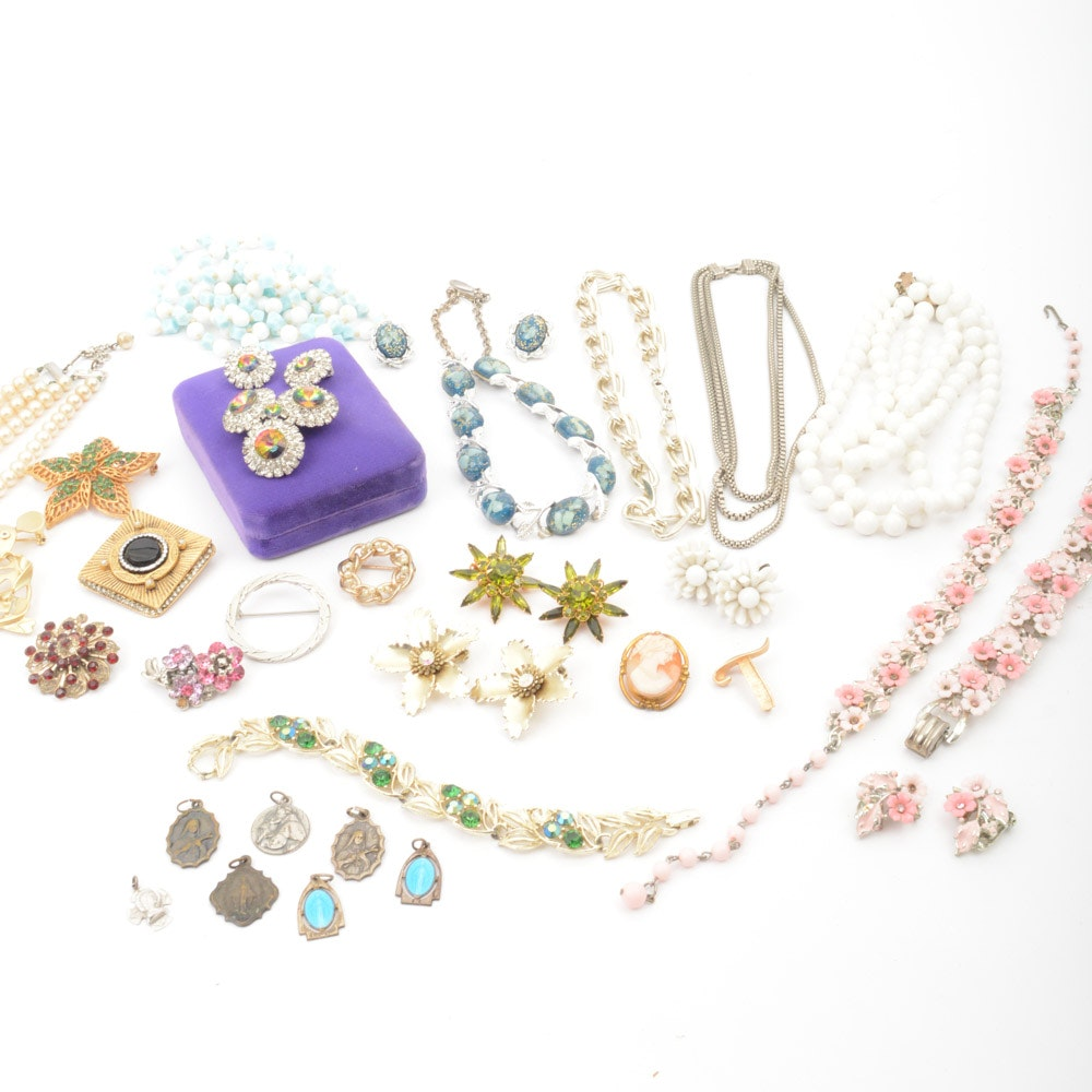 Vintage Costume Jewelry Collection Featuring Coro