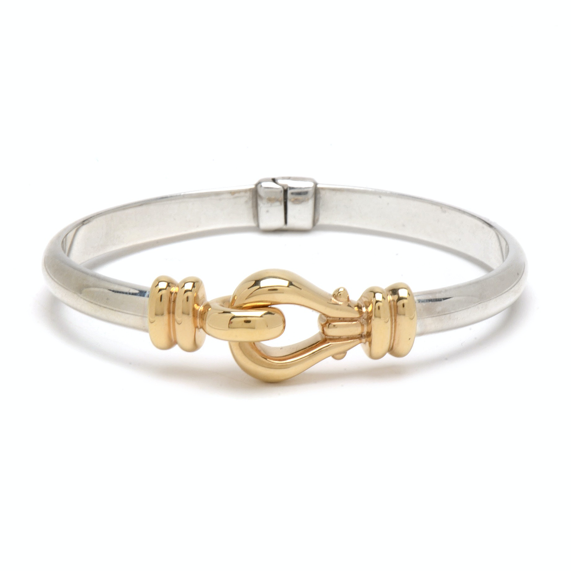 JTL Israel Sterling and 14K Gold Bracelet