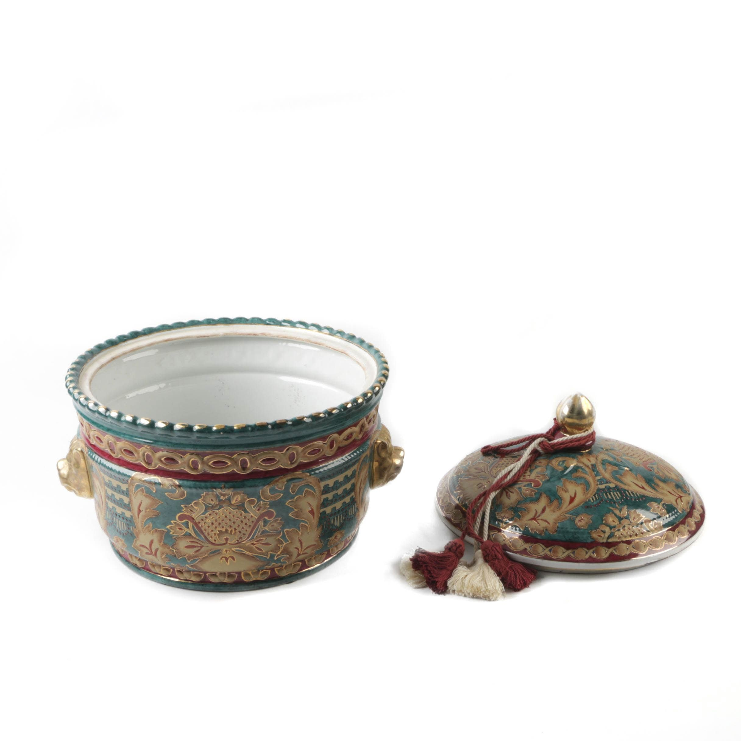 Asian Style Ceramic Trinket Box