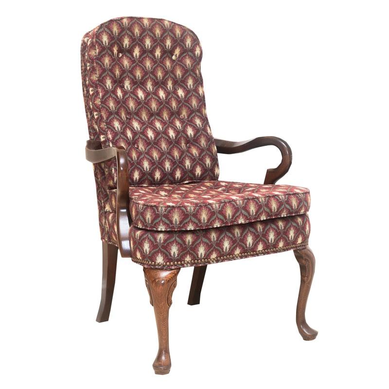 Queen Anne Style Gooseneck Armchair