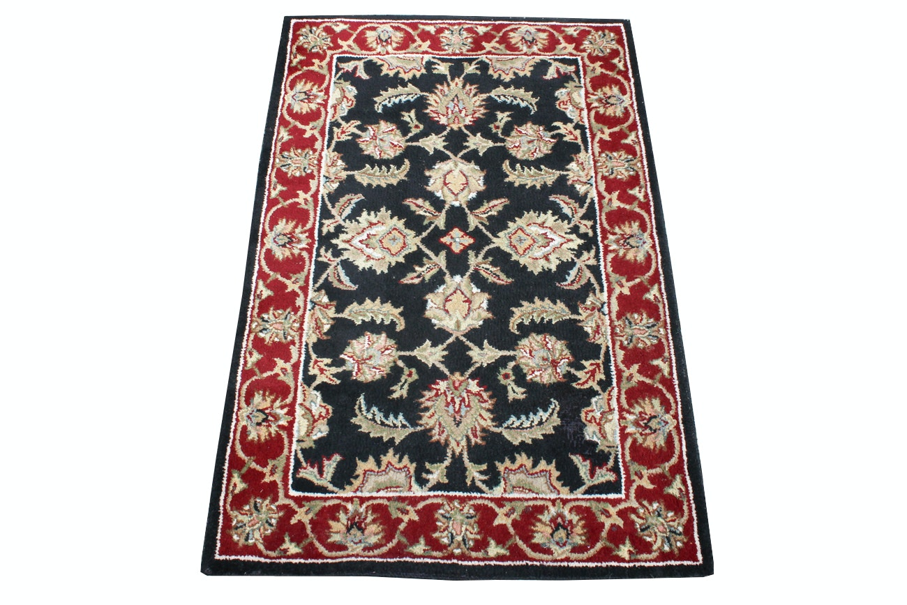 Kashan Wool Accent Rug