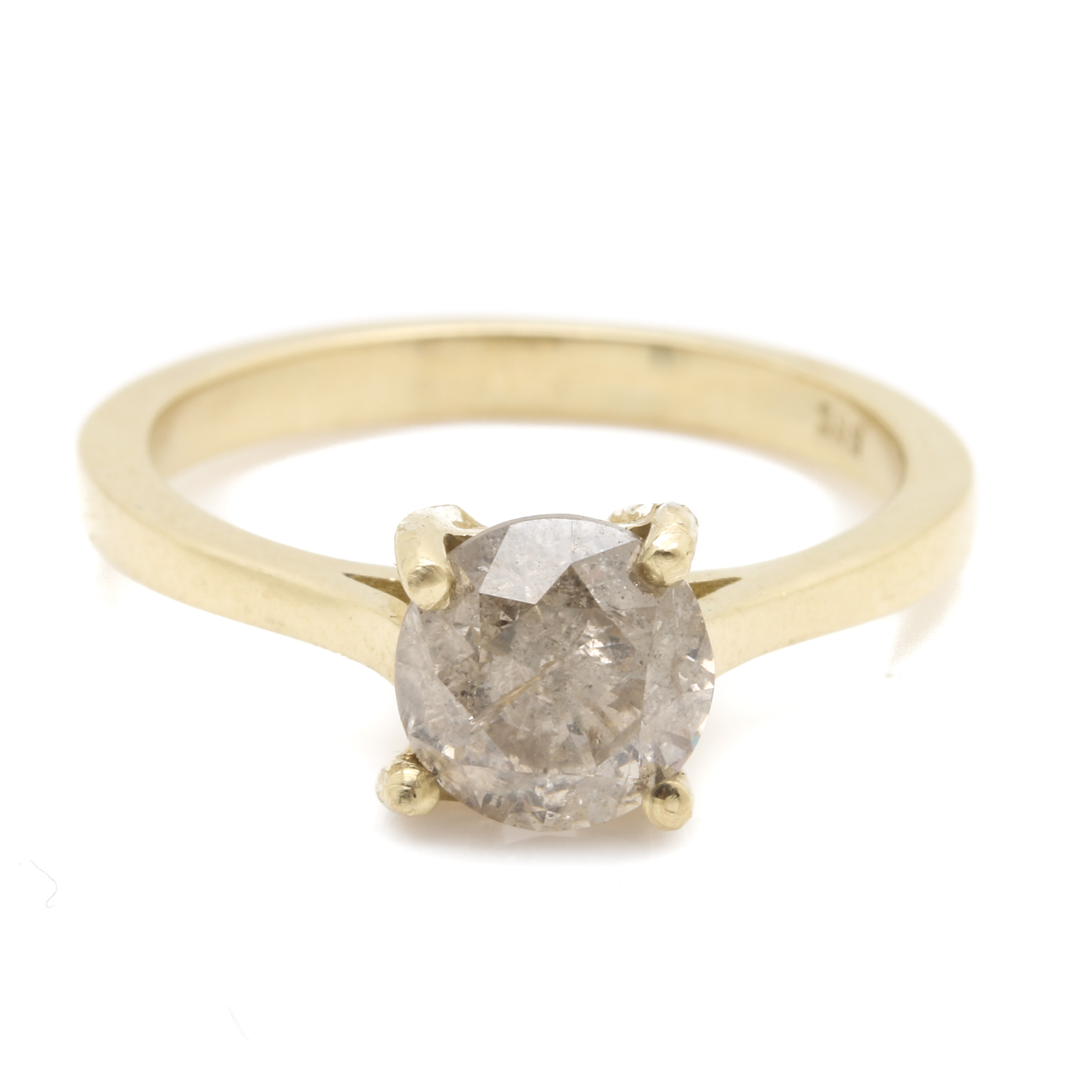 14K Yellow Gold 1.27 CT Diamond Solitaire Ring