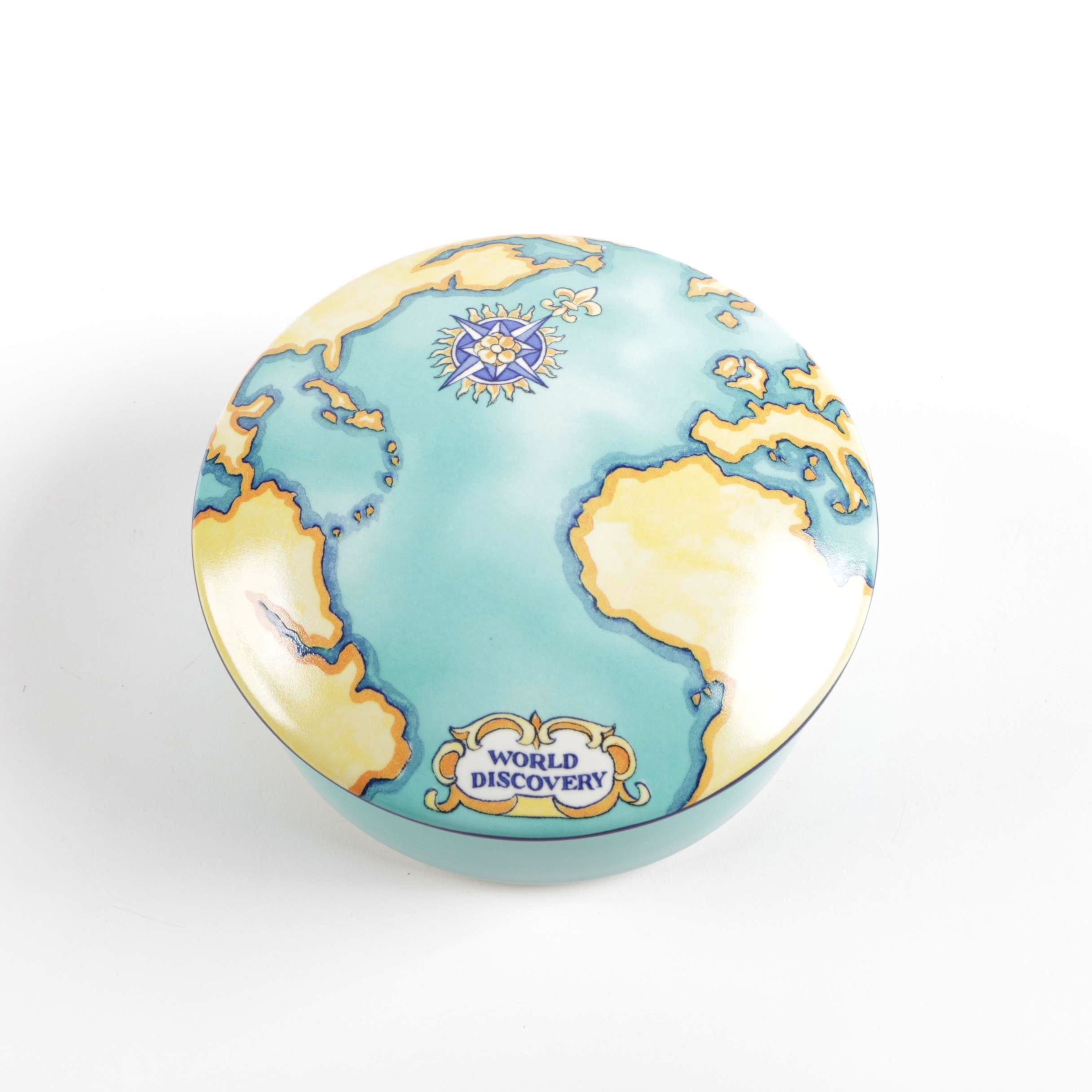 "Tiffany & Co. Tauck ""World Discovery"" Trinket Dish"