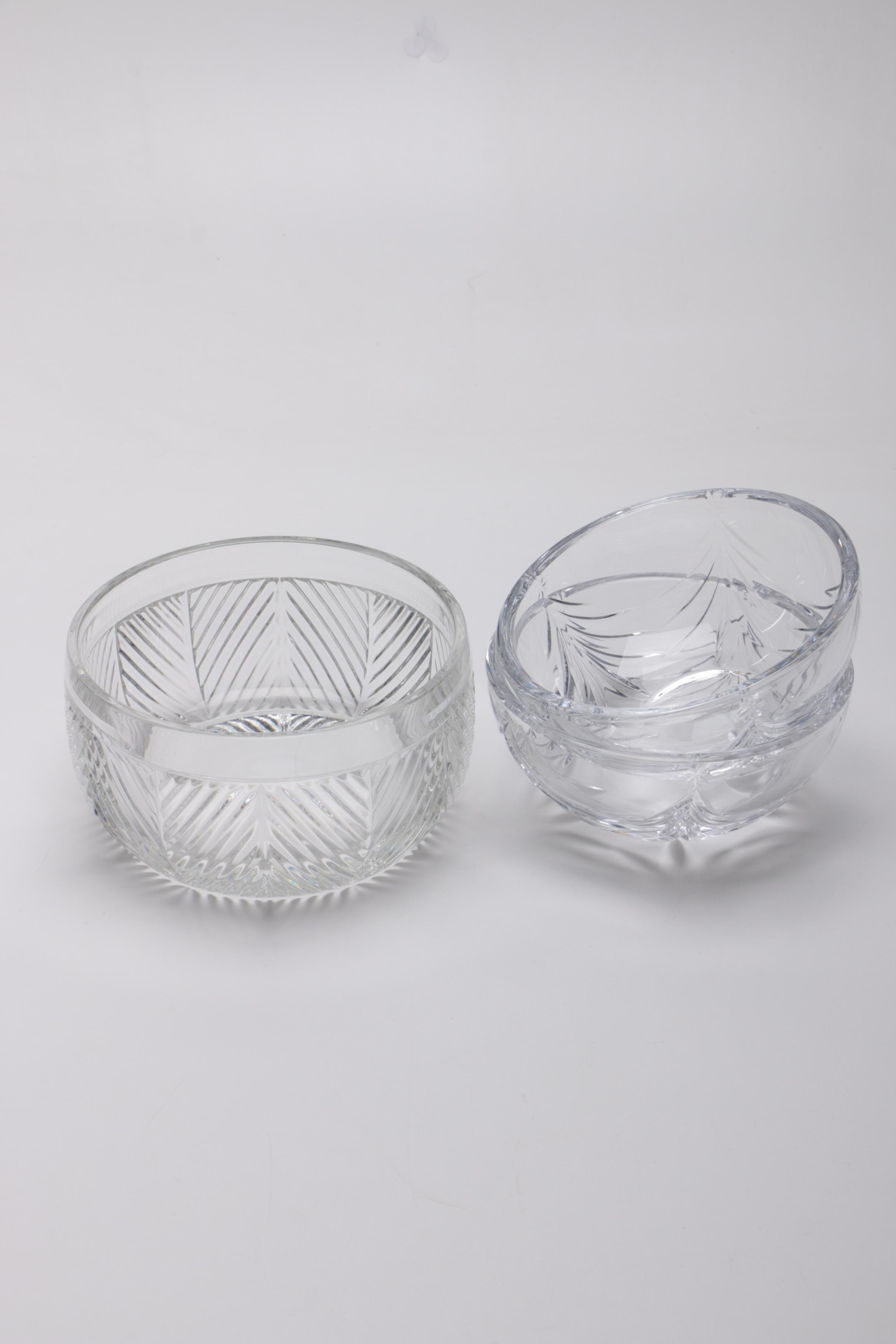 "Ralph Lauren ""Herringbone"" Crystal Bowl and Marquis by Waterford Crystal Bowls"