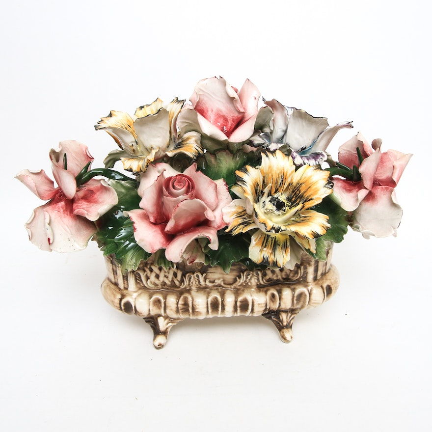 Vintage Enameled Metal Flower Bouquet : EBTH