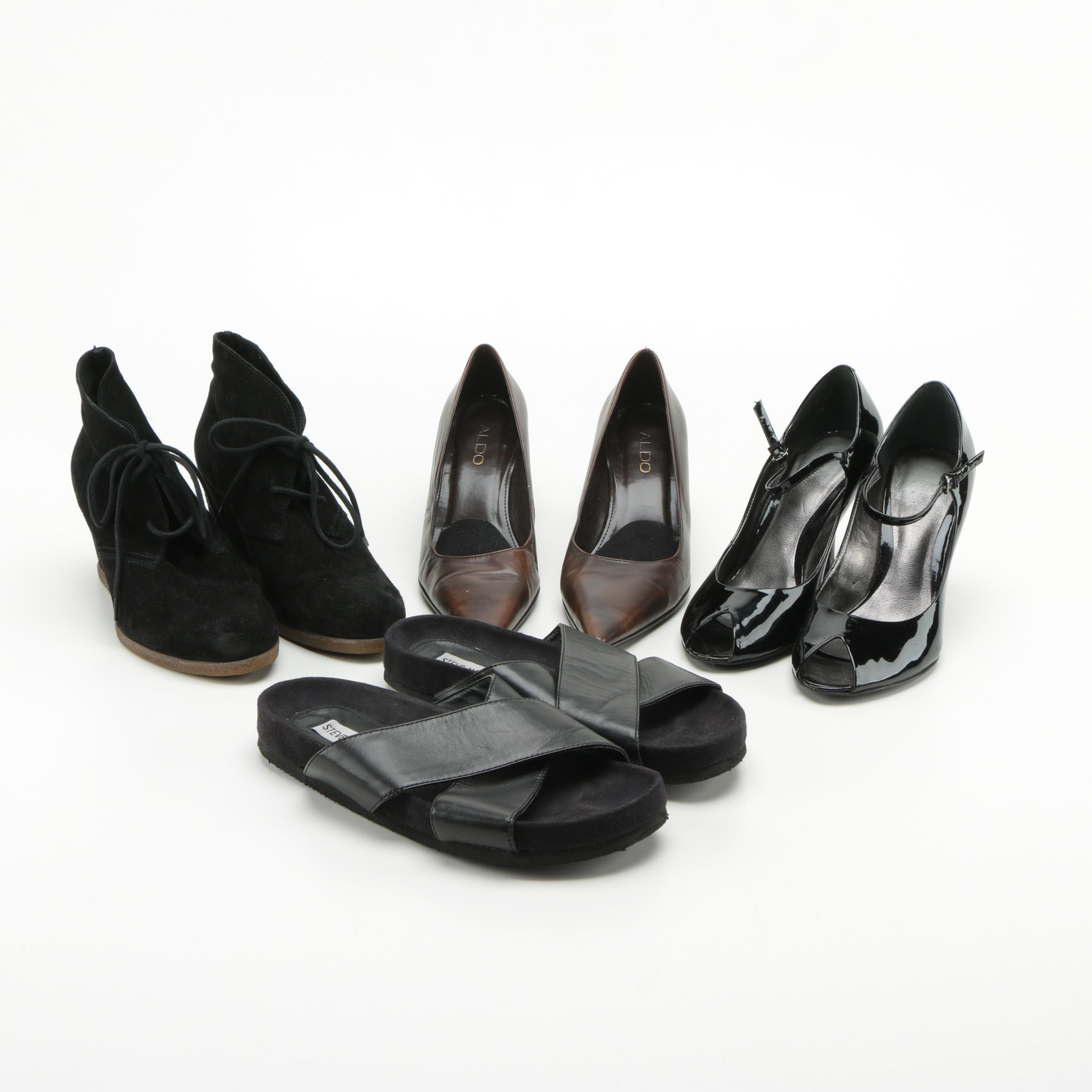 Collection of Women's Shoes Including Steve Madden