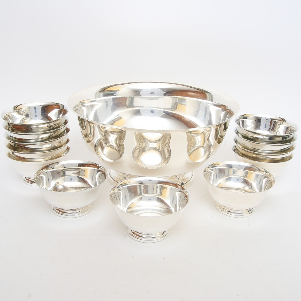 "Set of Gorham ""Paul Revere"" Silver-Plated Bowls"