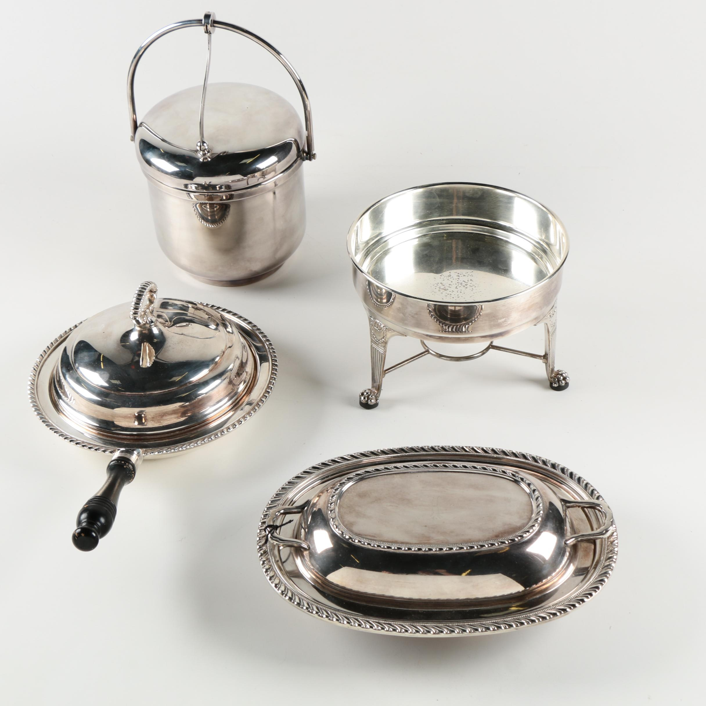 Assorted Silver Plate Serveware Featuring Reed and Barton