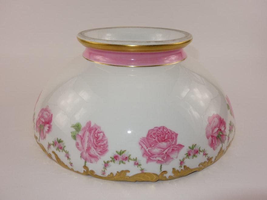 antique t v limoges france punch bowl on stand ebth. Black Bedroom Furniture Sets. Home Design Ideas