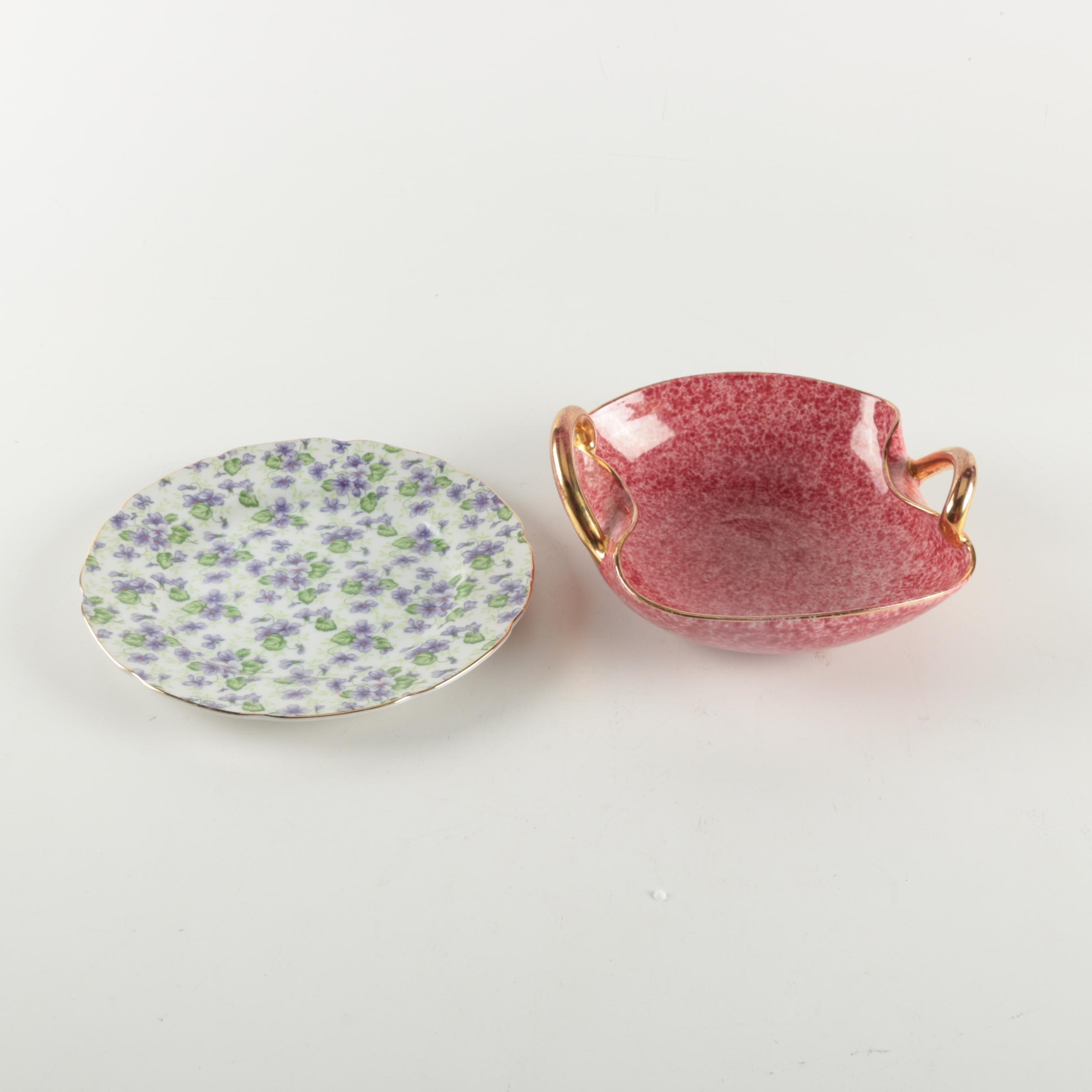 Porcelain Plate and Ceramic Bowl
