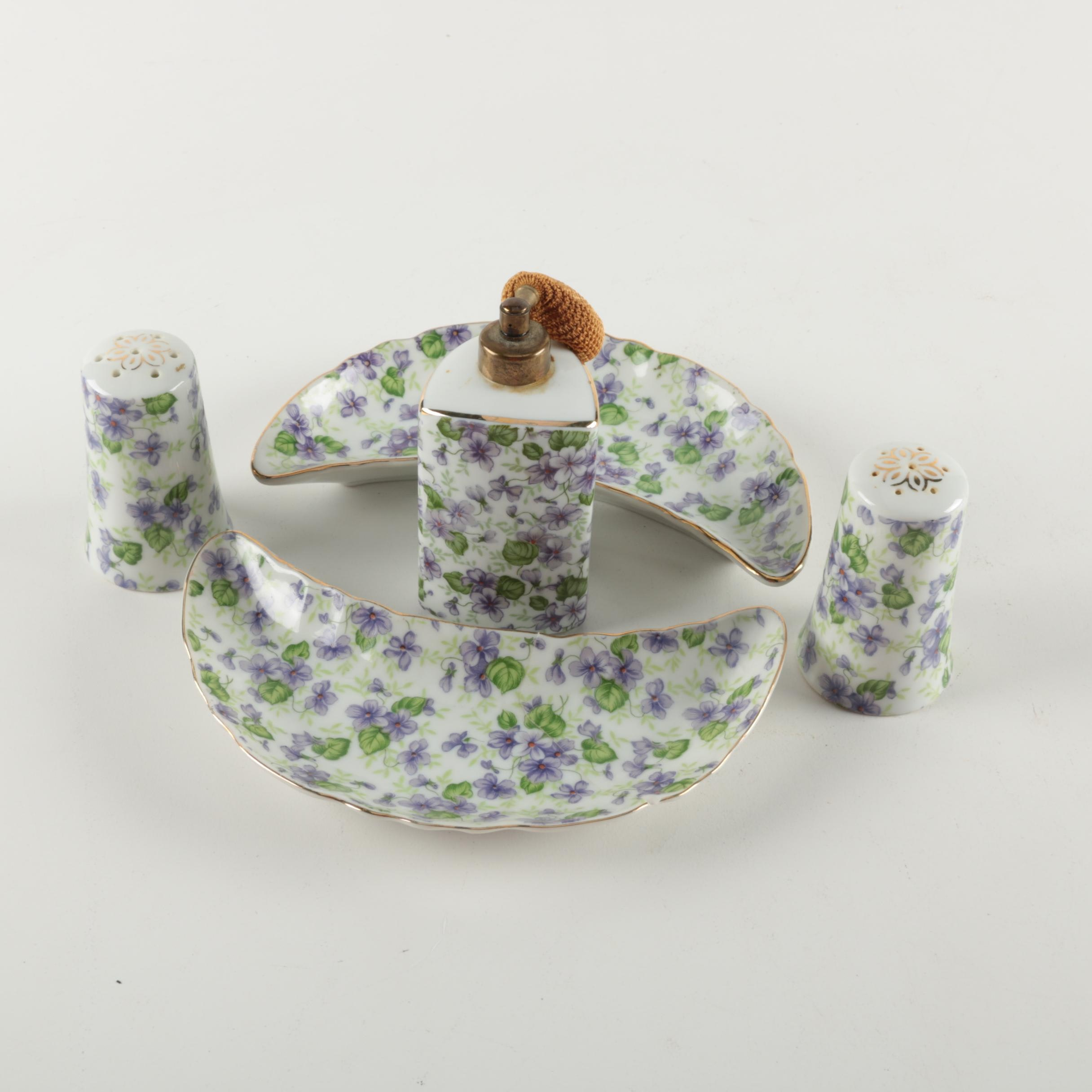 "Lefton ""Violet Chintz"" Porcelain Set"