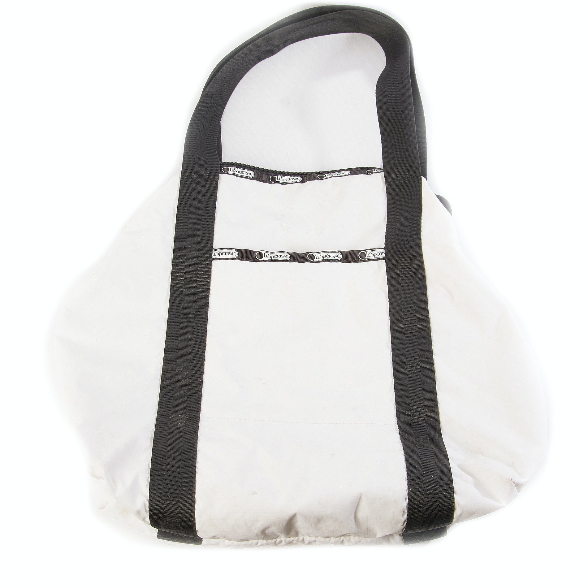 LeSportsac Limited Edition White and Black Tote