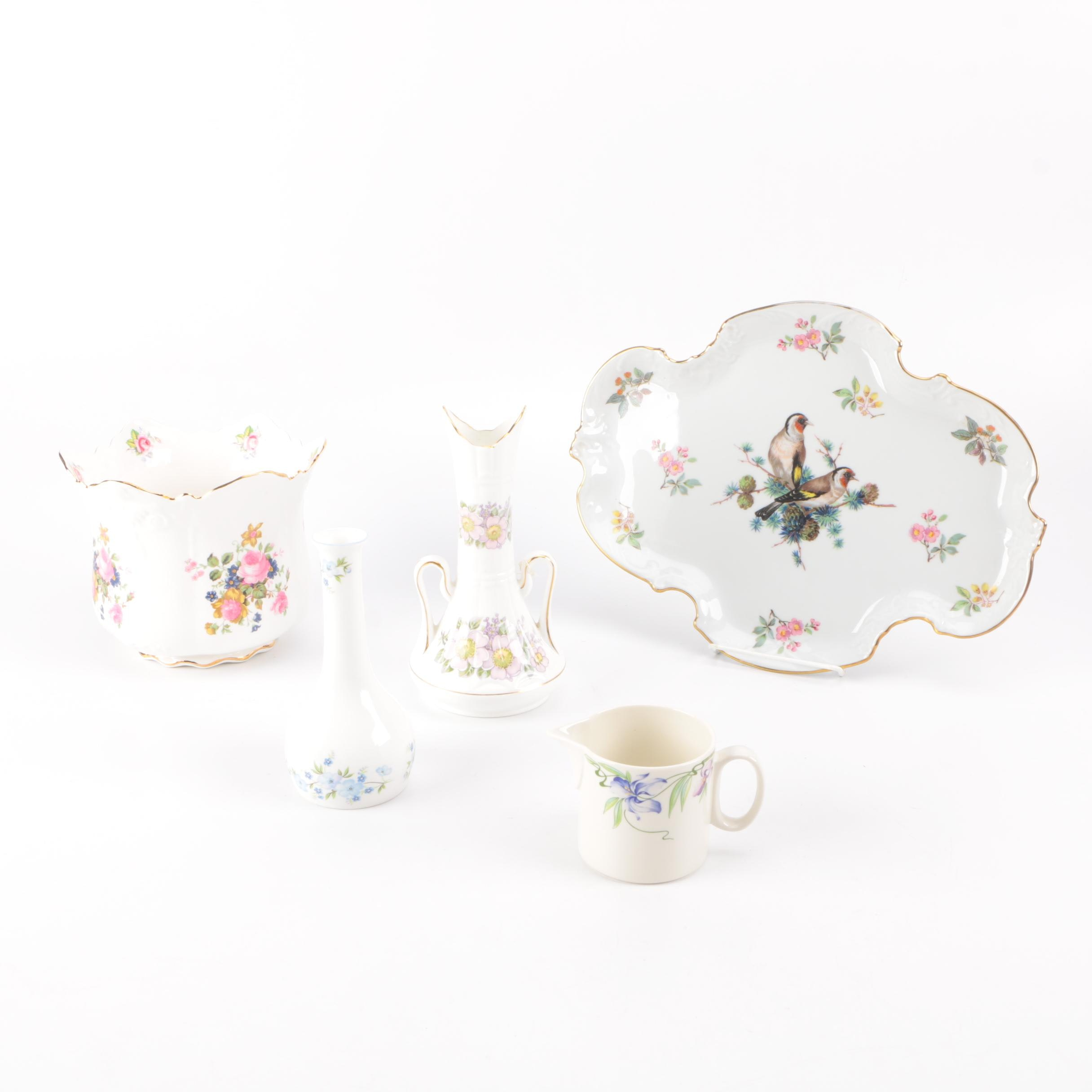 Assortment of Bone China Serveware including Limoges