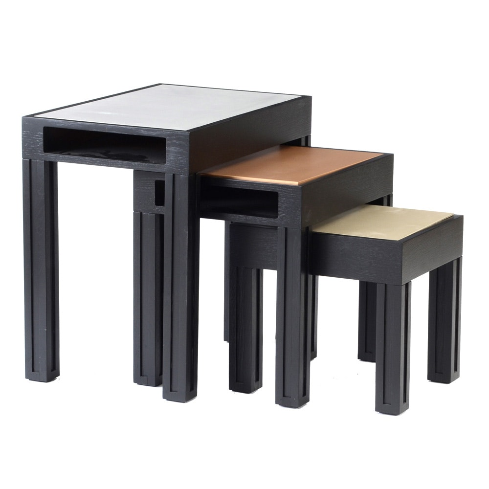 Set of ME2 Black Nesting Tables