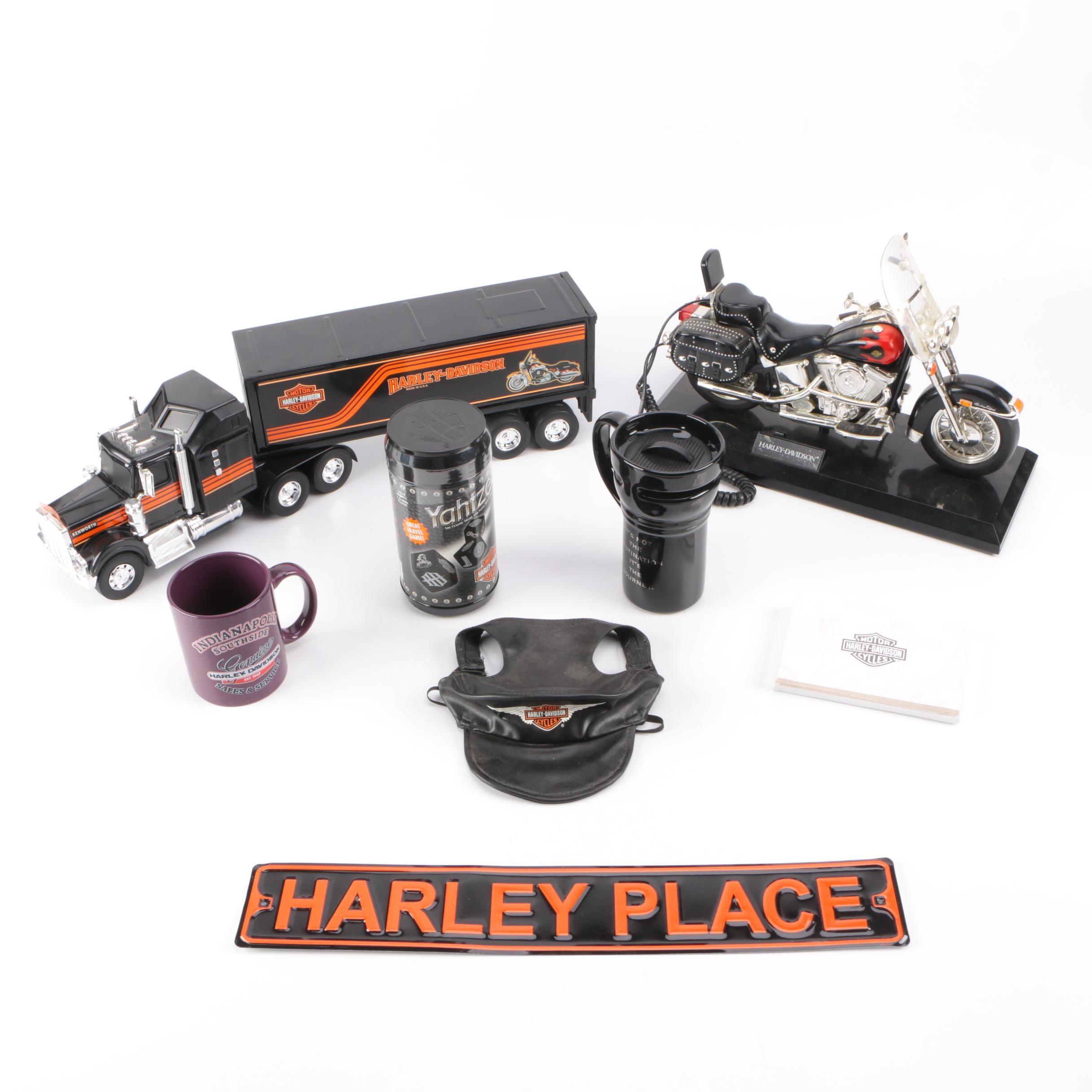Collection of Harley Davidson Memorabilia